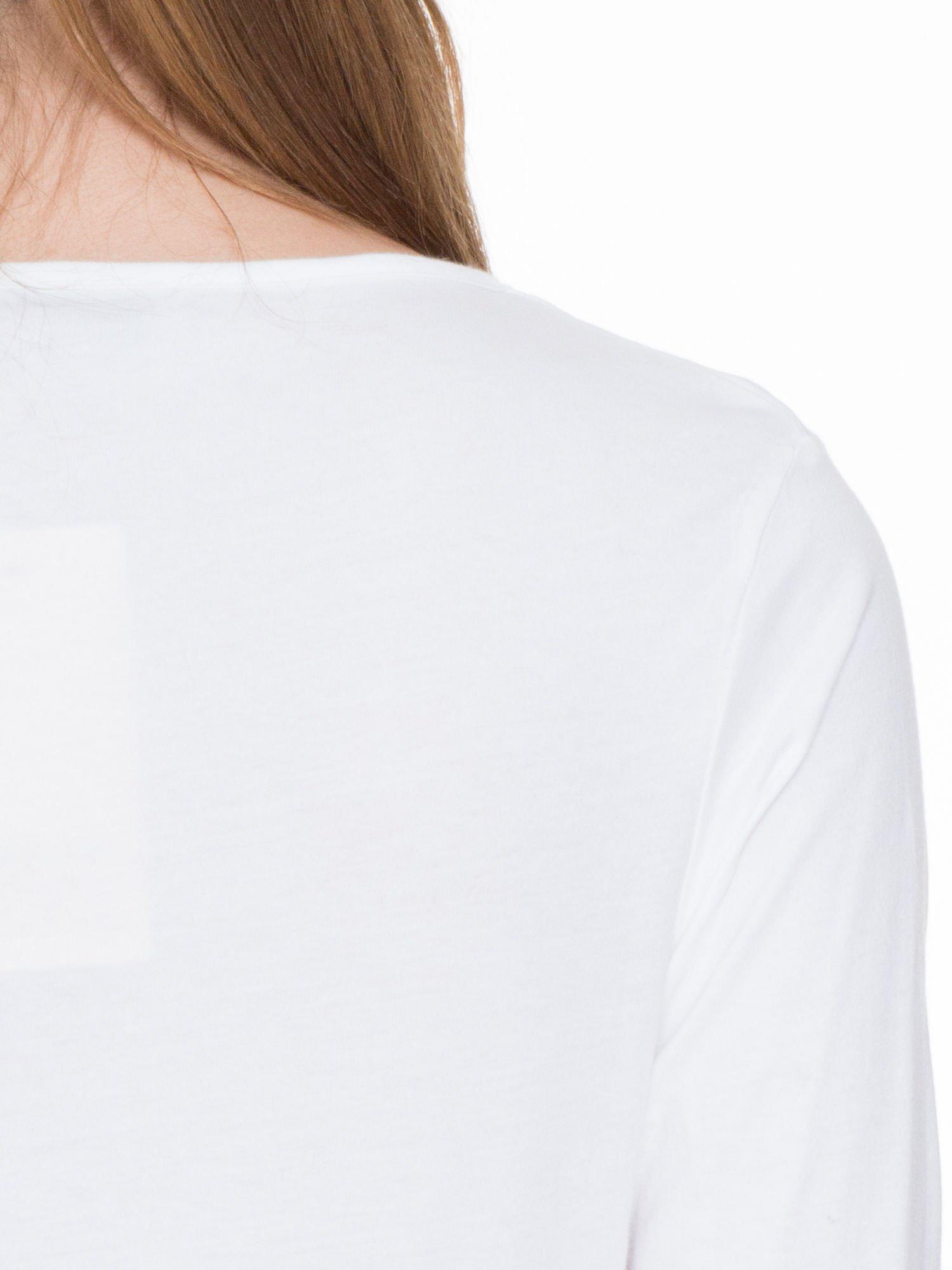 Biała bluzka z długim rękawem z bawełny                                  zdj.                                  7