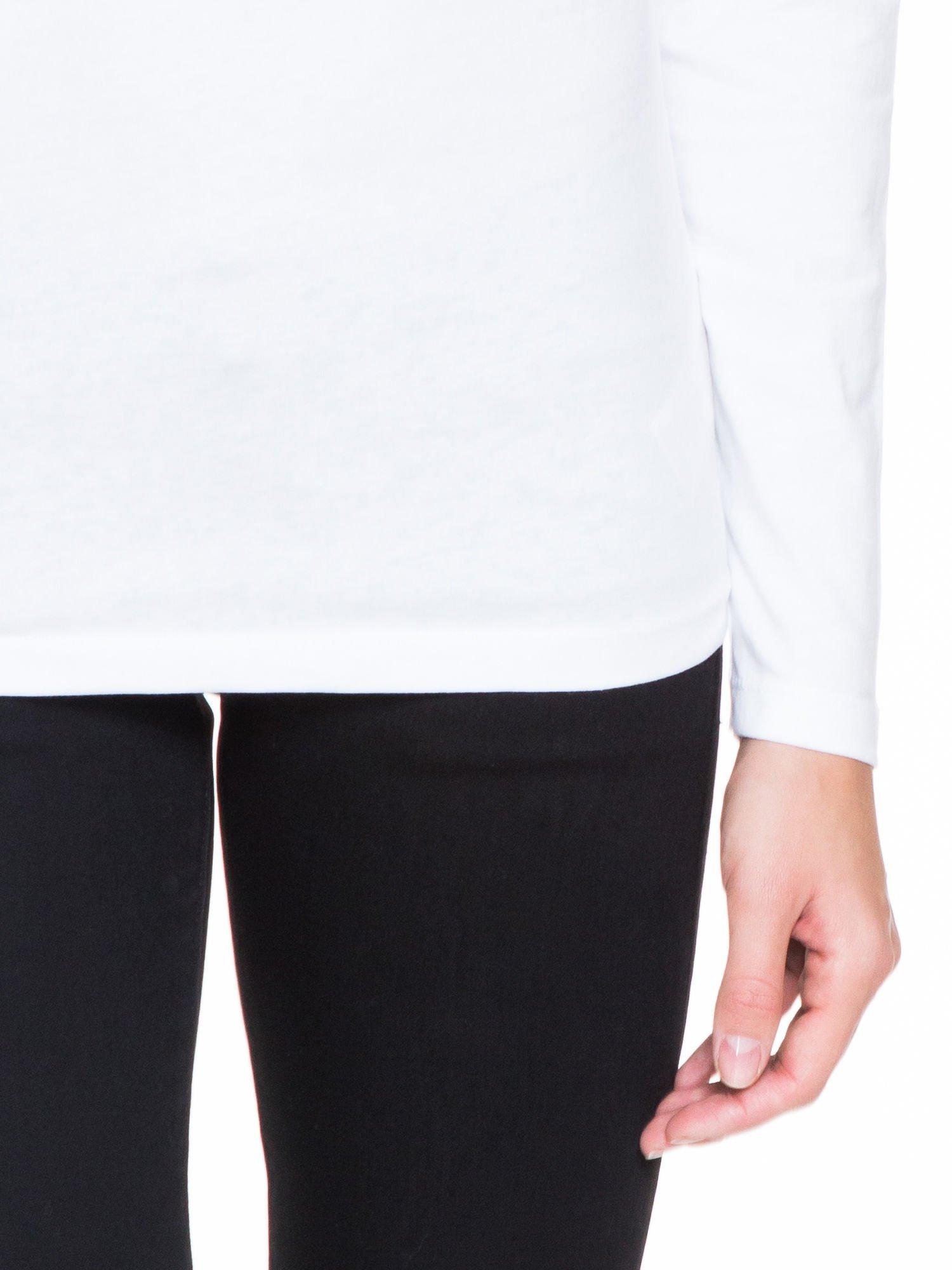 Biała bluzka z koronkową wstawką na rękawach i z tyłu                                  zdj.                                  6