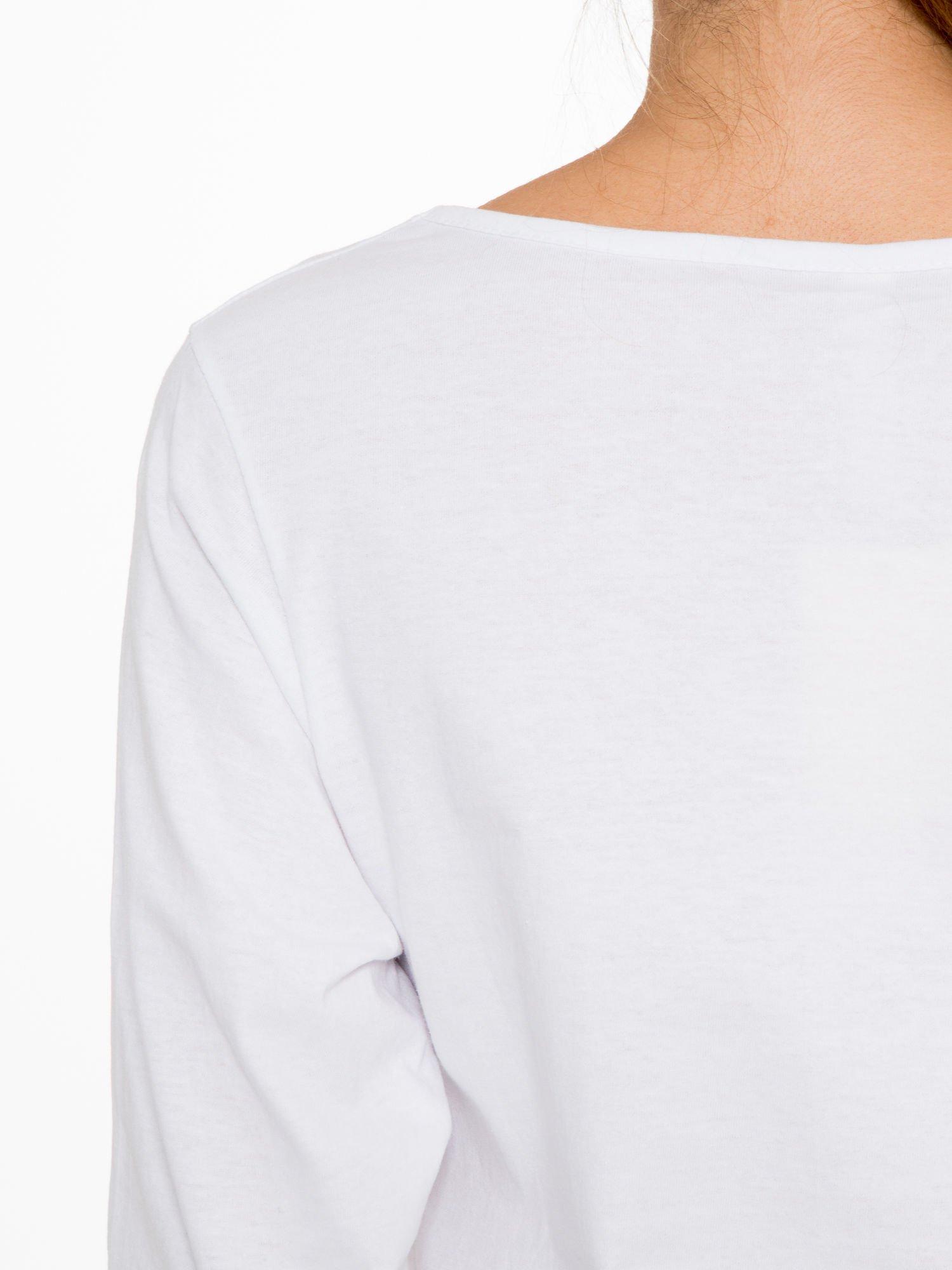 Biała bluzka z motywem Paryża                                  zdj.                                  9
