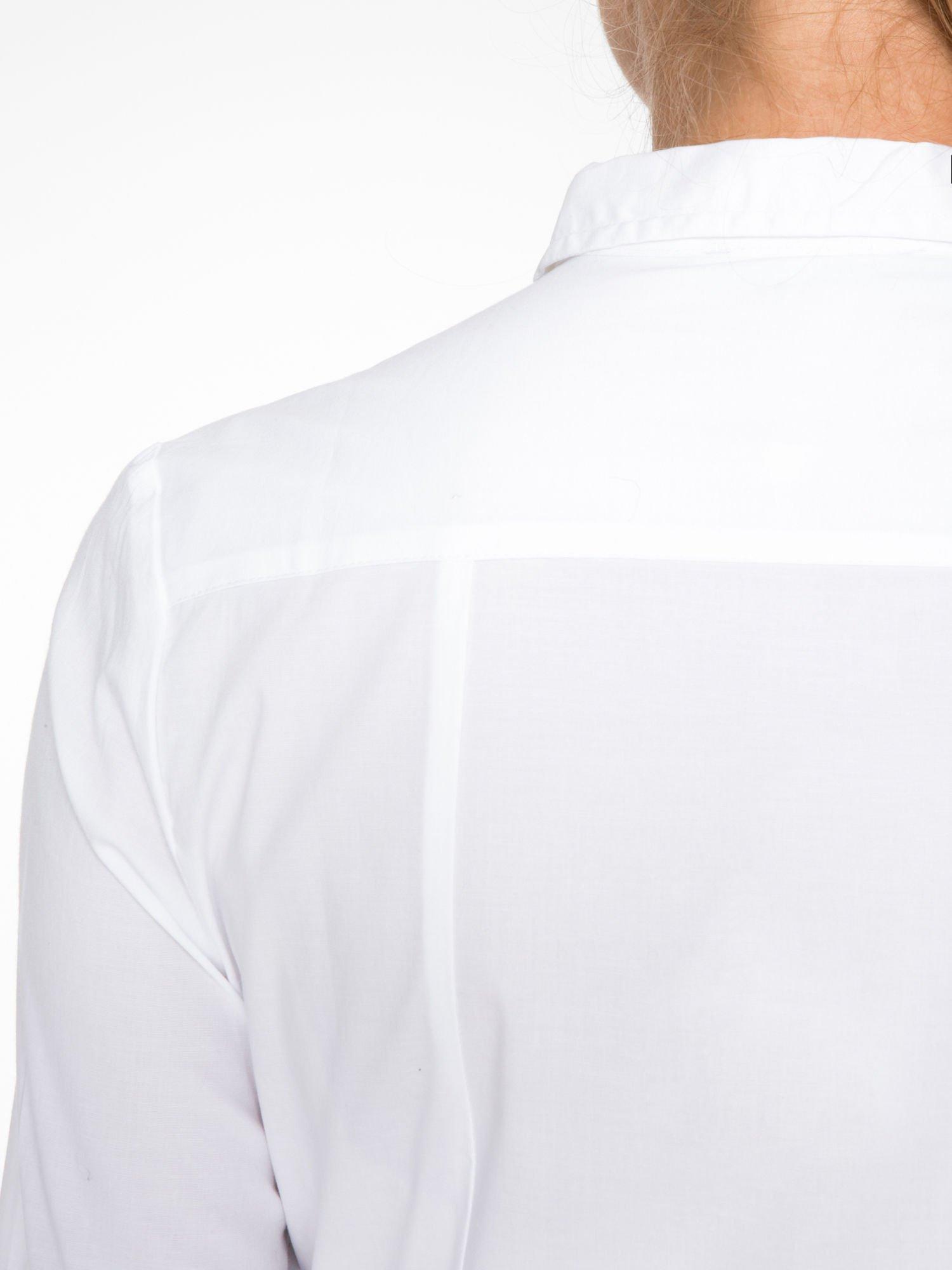 Biała elegancka koszula damska z krytą listwą                                  zdj.                                  8