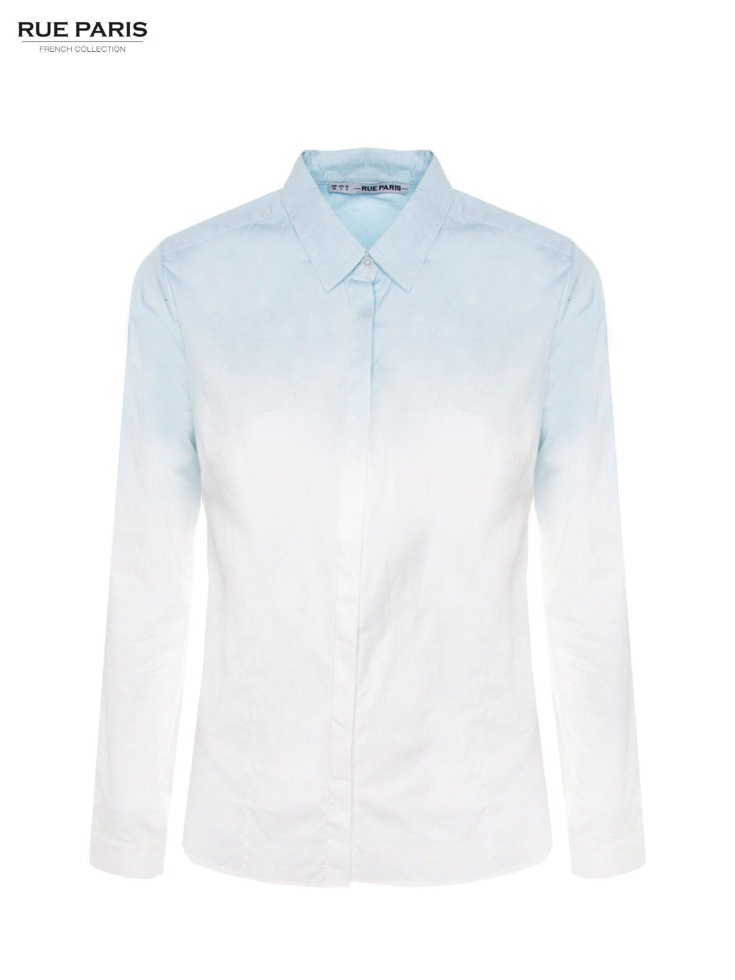 Biała koszula z efektem ombre                                  zdj.                                  2