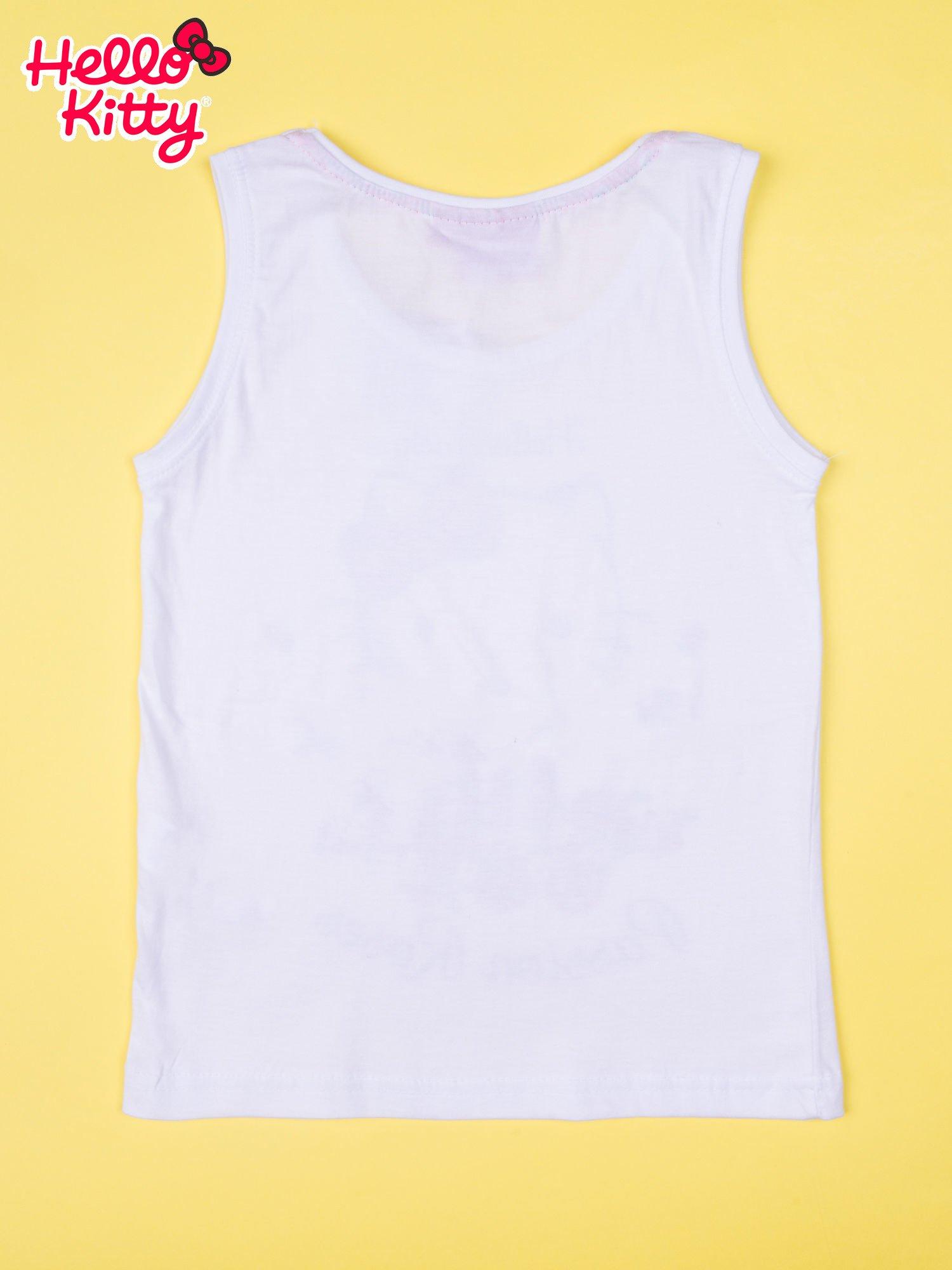 Biała piżama dla dziewczynki z różanymi motywami HELLO KITTY                                  zdj.                                  3
