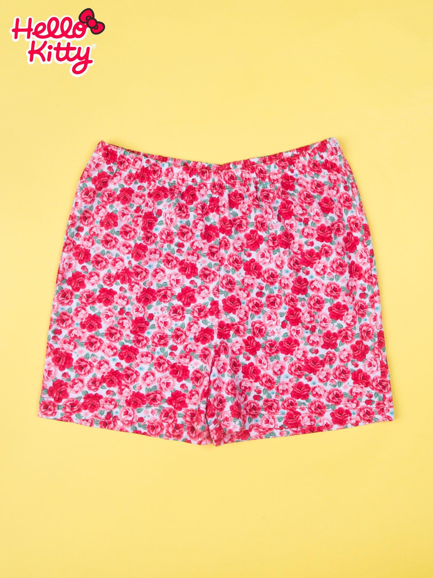 Biała piżama dla dziewczynki z różanymi motywami HELLO KITTY                                  zdj.                                  4