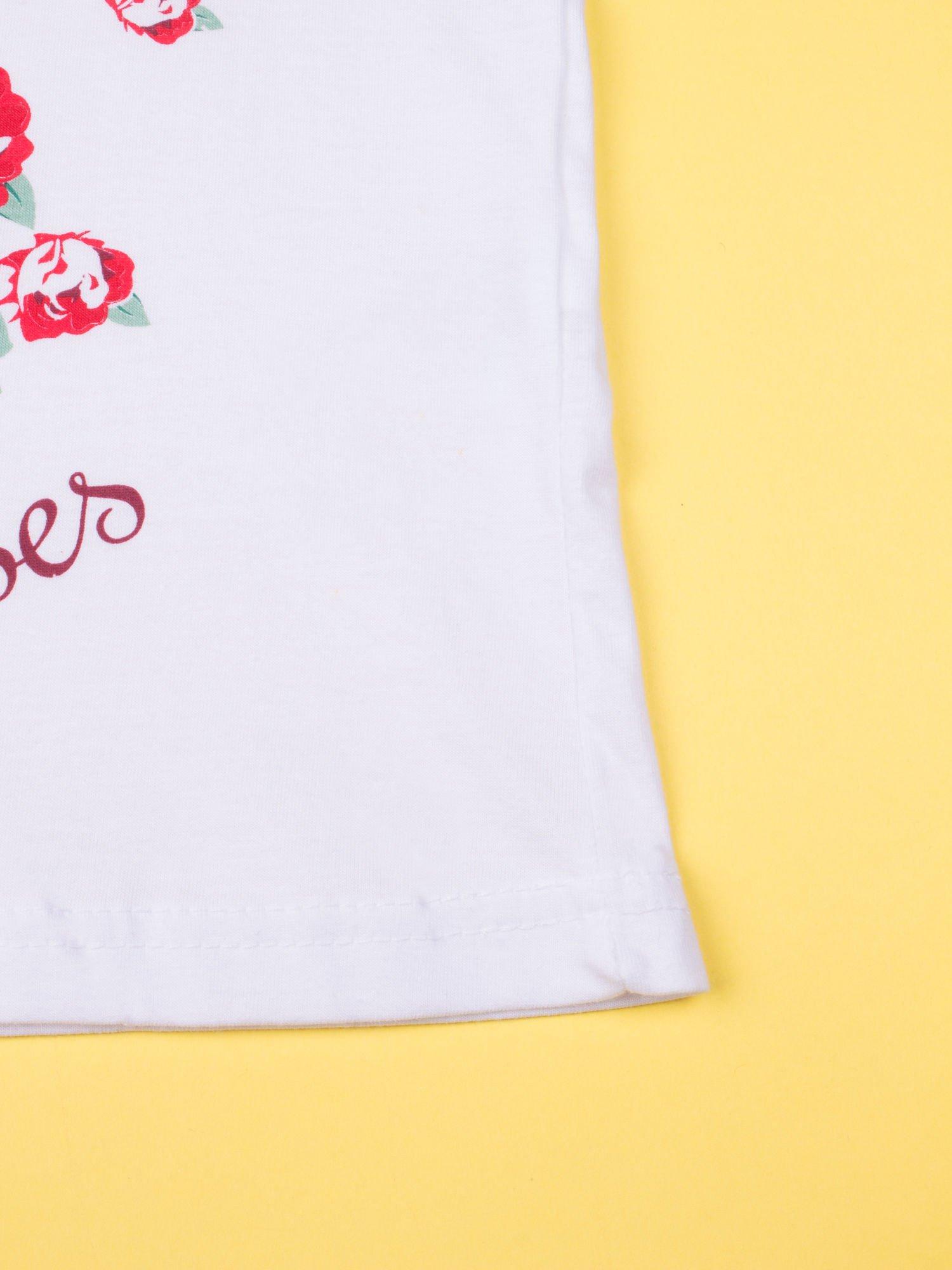 Biała piżama dla dziewczynki z różanymi motywami HELLO KITTY                                  zdj.                                  7