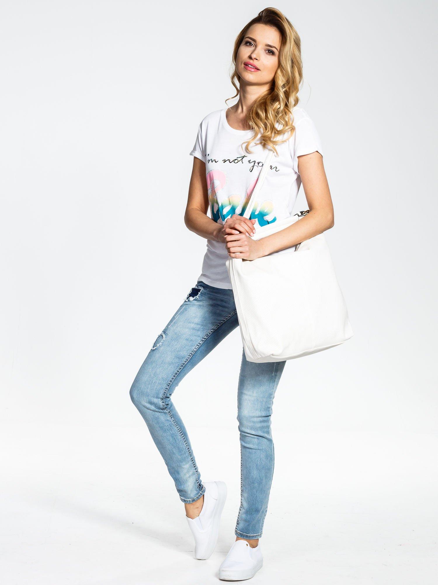 Biała torba damska hobo                                  zdj.                                  2