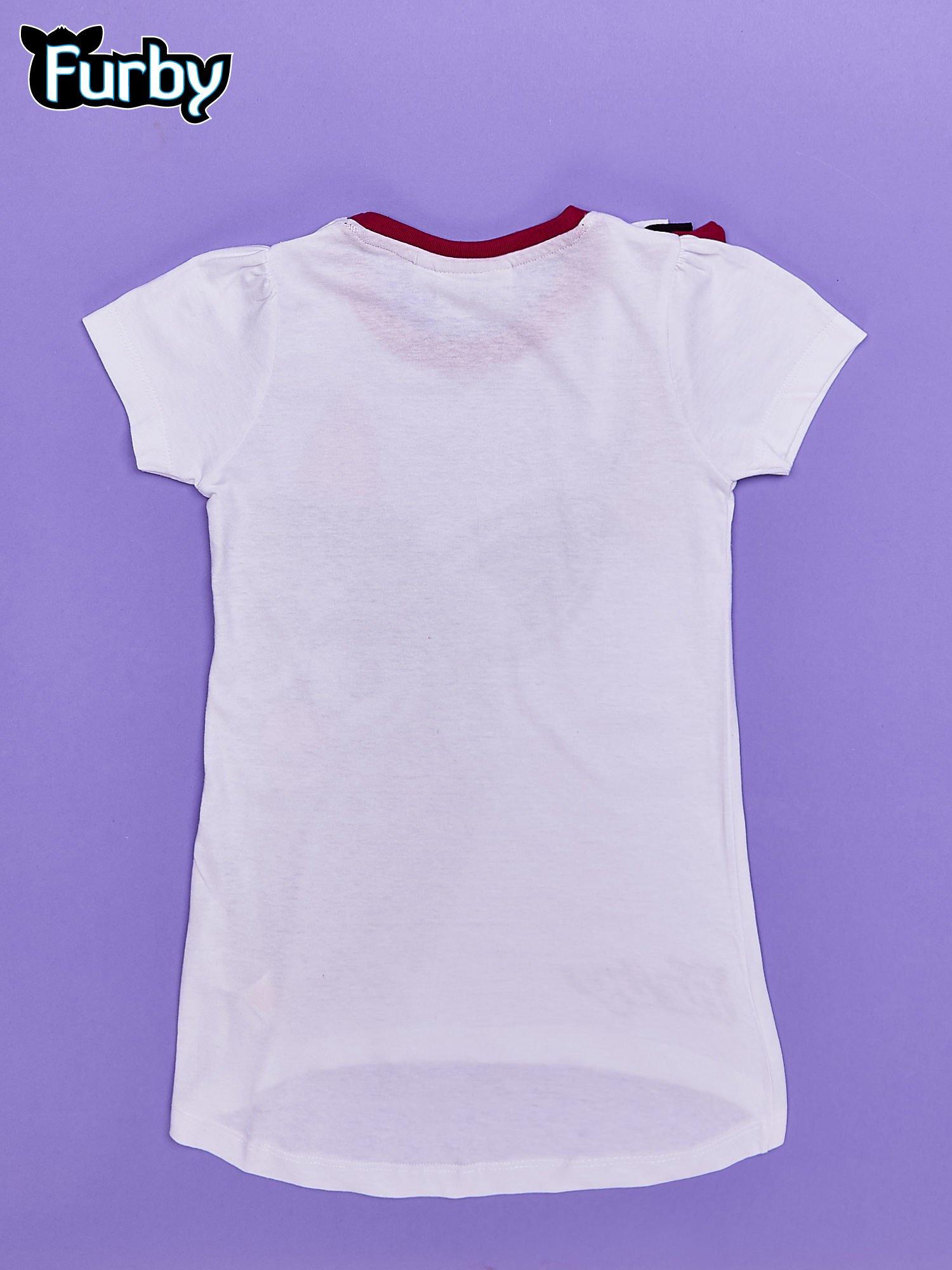 Biała tunika dla dziewczynki z nadrukiem FURBY                                  zdj.                                  2