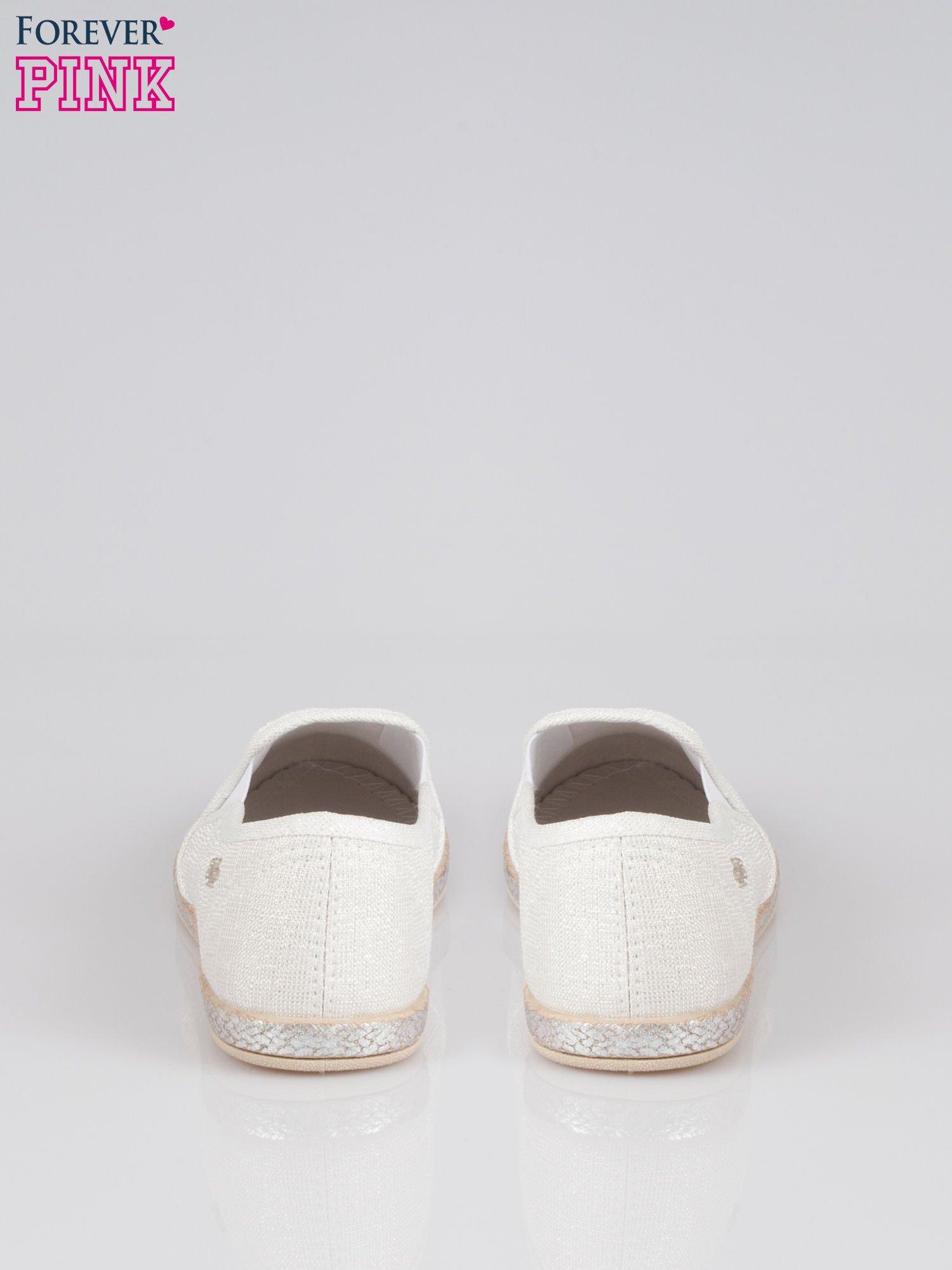 Białe buty slip-on                                  zdj.                                  3