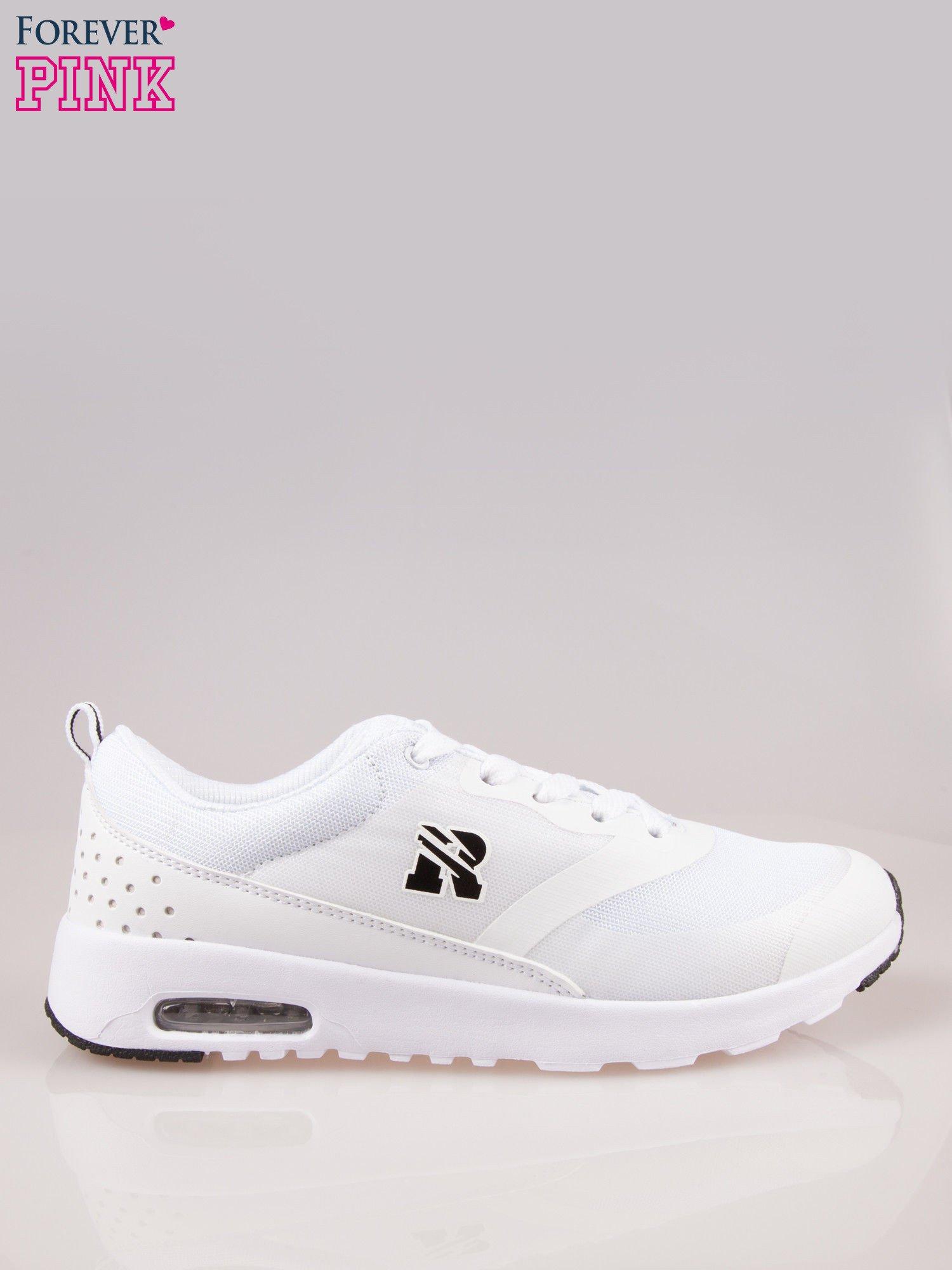 Białe buty sportowe damskie z siateczką i poduszką powietrzną w podeszwie                                  zdj.                                  1