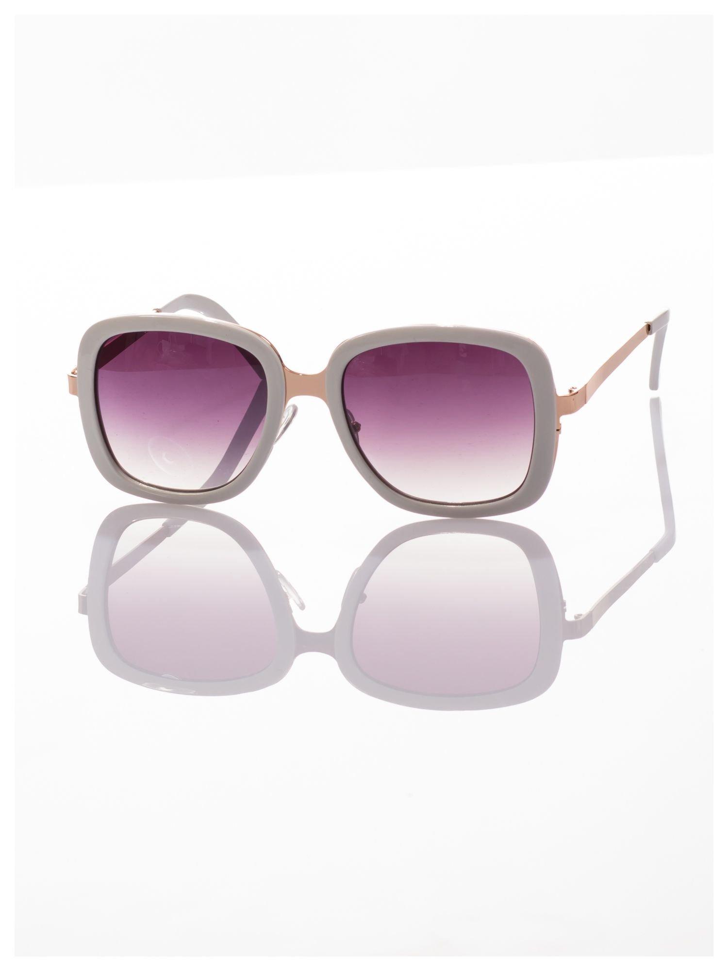 Białe eleganckie okulary                                  zdj.                                  3