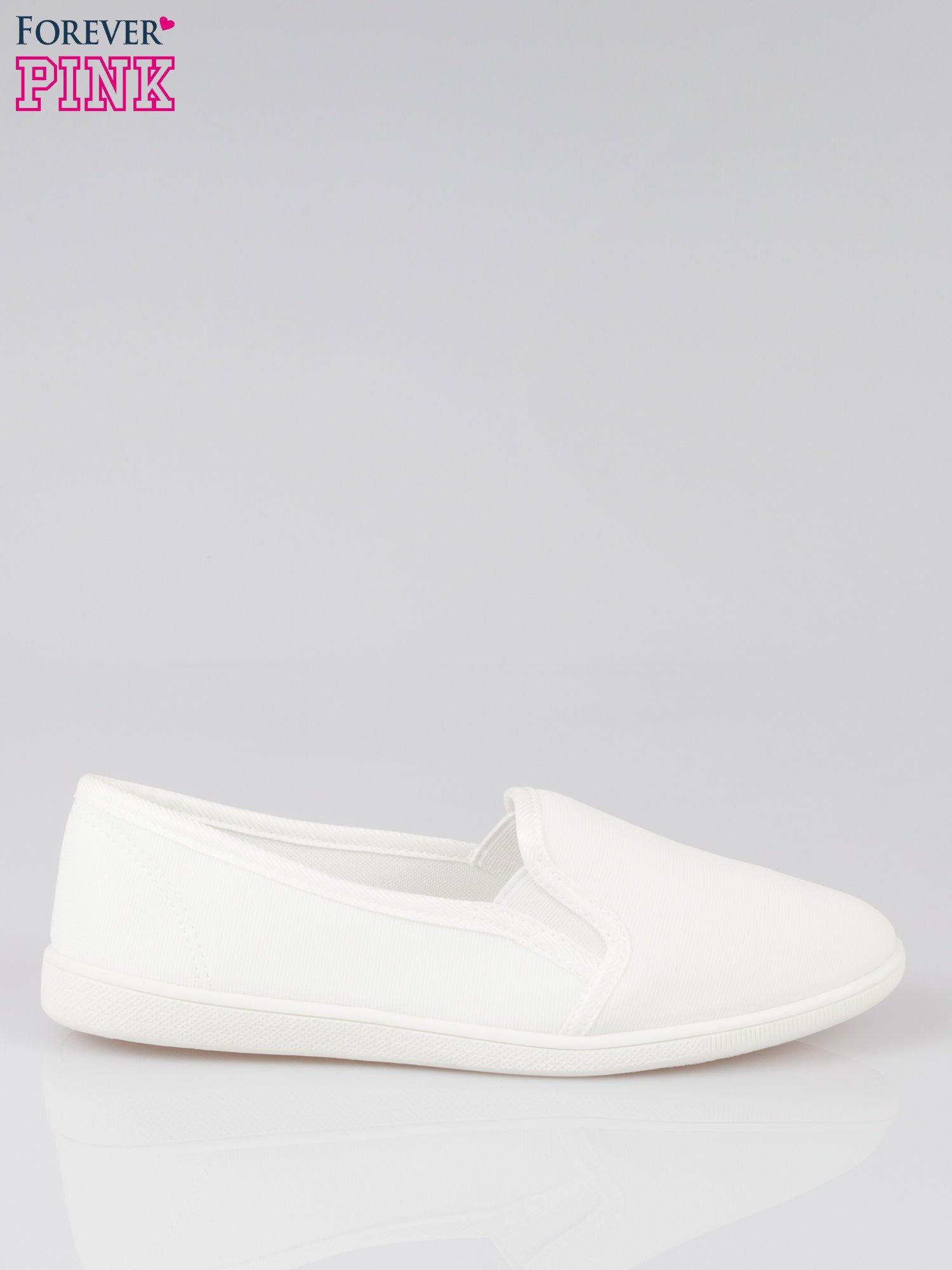 Białe lekkie buty sliponki                                  zdj.                                  1