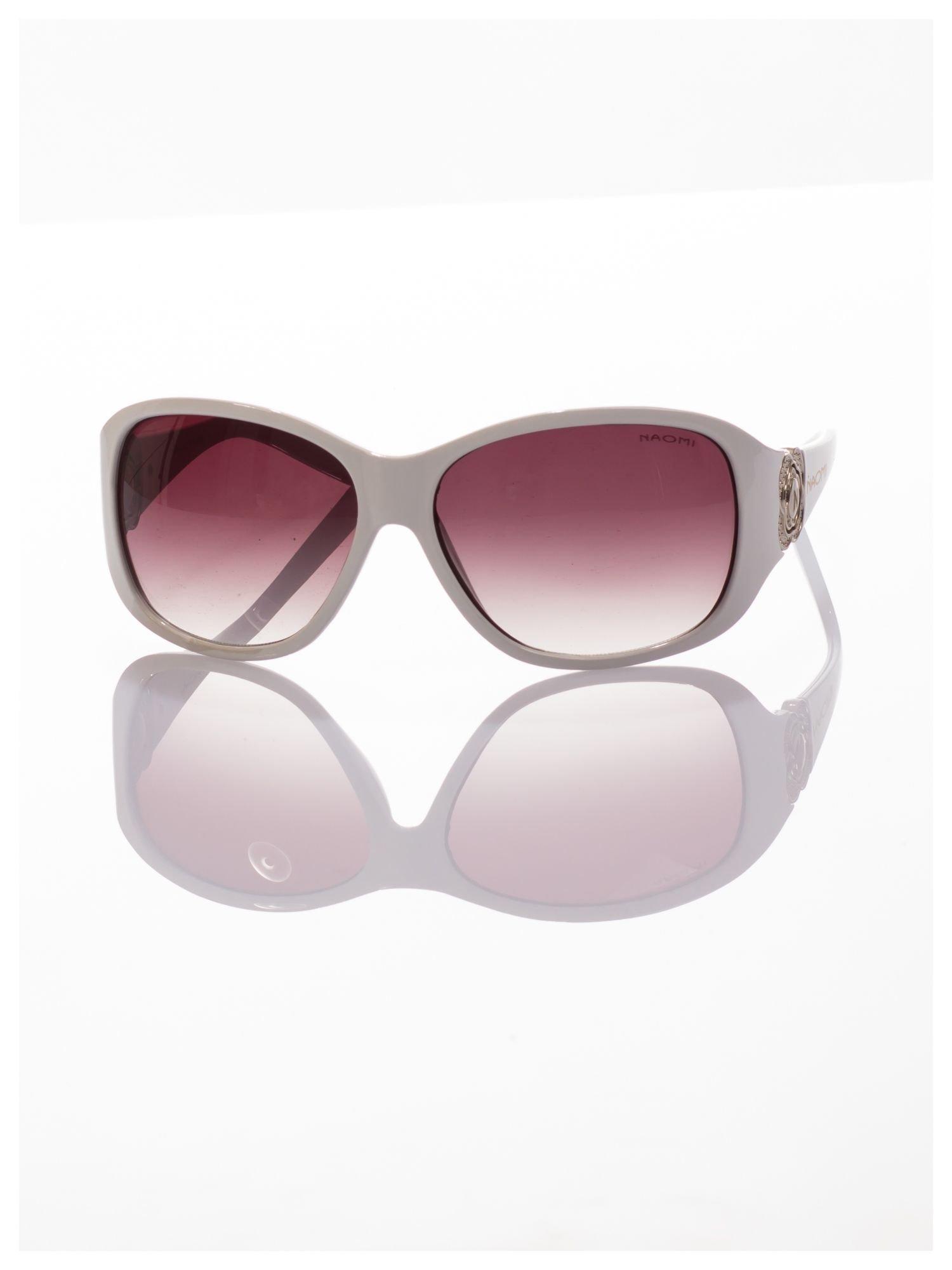 Białe piękne okulary przeciwsłoneczne dla kobiet NAOMI -KLASYKA                                   zdj.                                  3