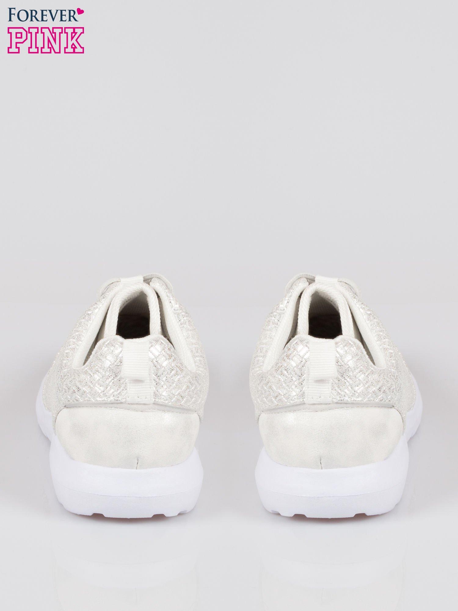Białe plecione buty sportowe duo Split Up                                  zdj.                                  3