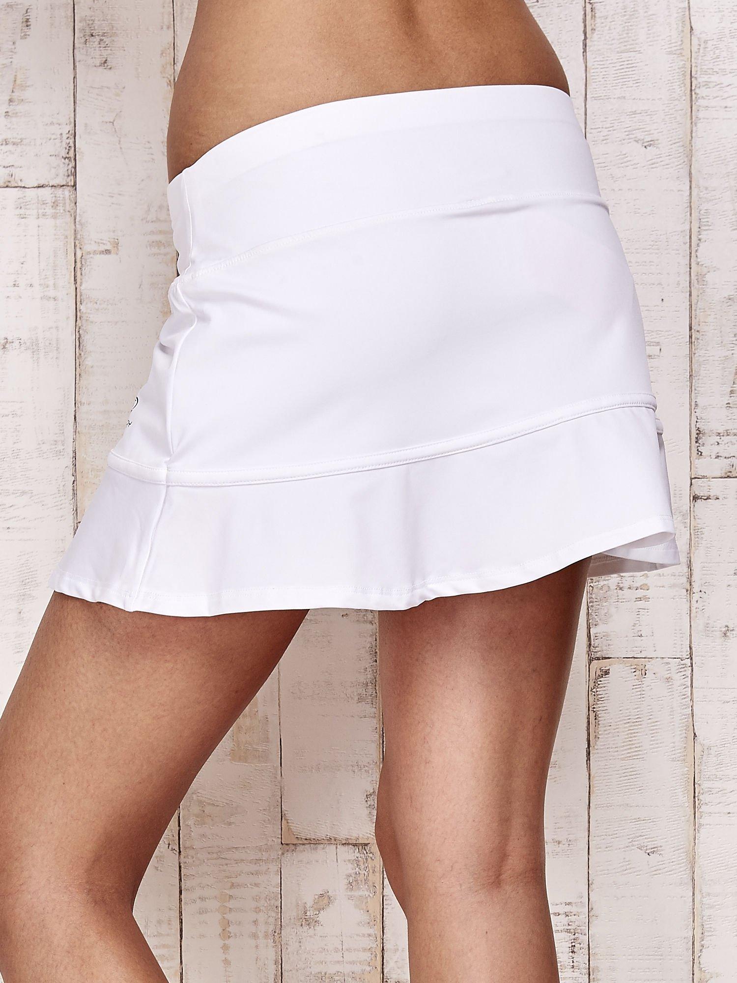 Białe spodenki spódniczka tenisowa z falbanką                                  zdj.                                  6