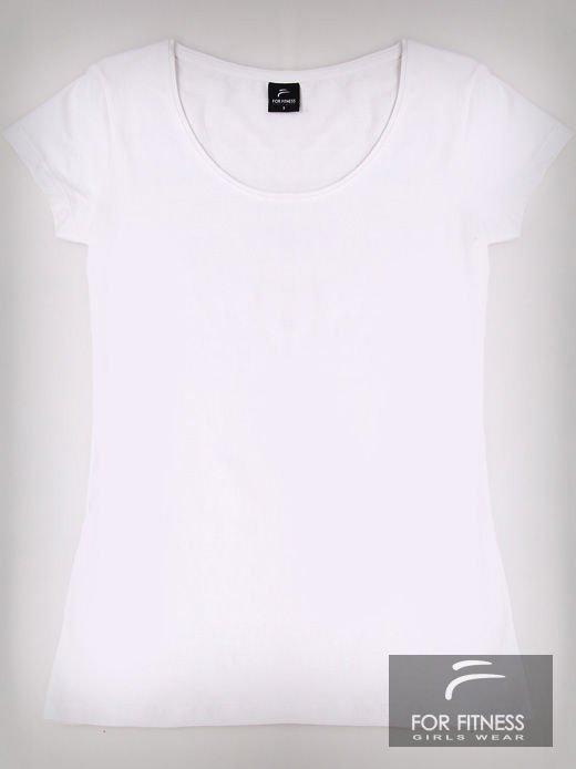 Biały basicowy t-shirt For Fitness                                  zdj.                                  2