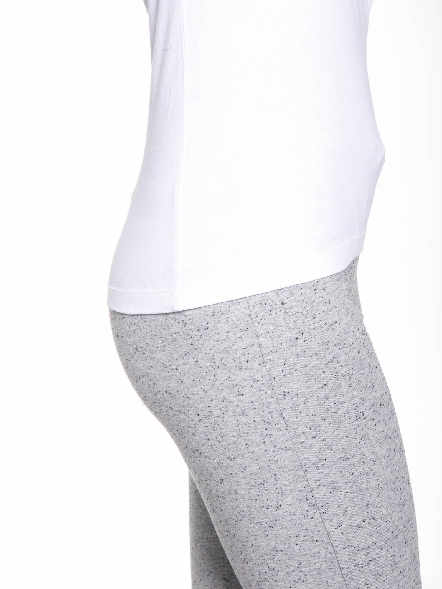 Biały bawełniany t-shirt damski typu basic                                  zdj.                                  7