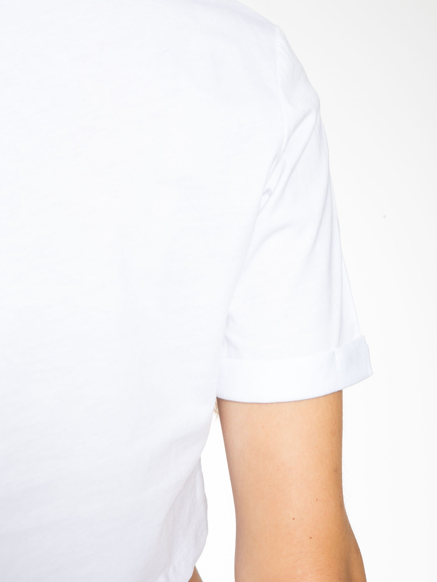 Biały cropped t-shirt z napisem BOY LONDON                                  zdj.                                  10