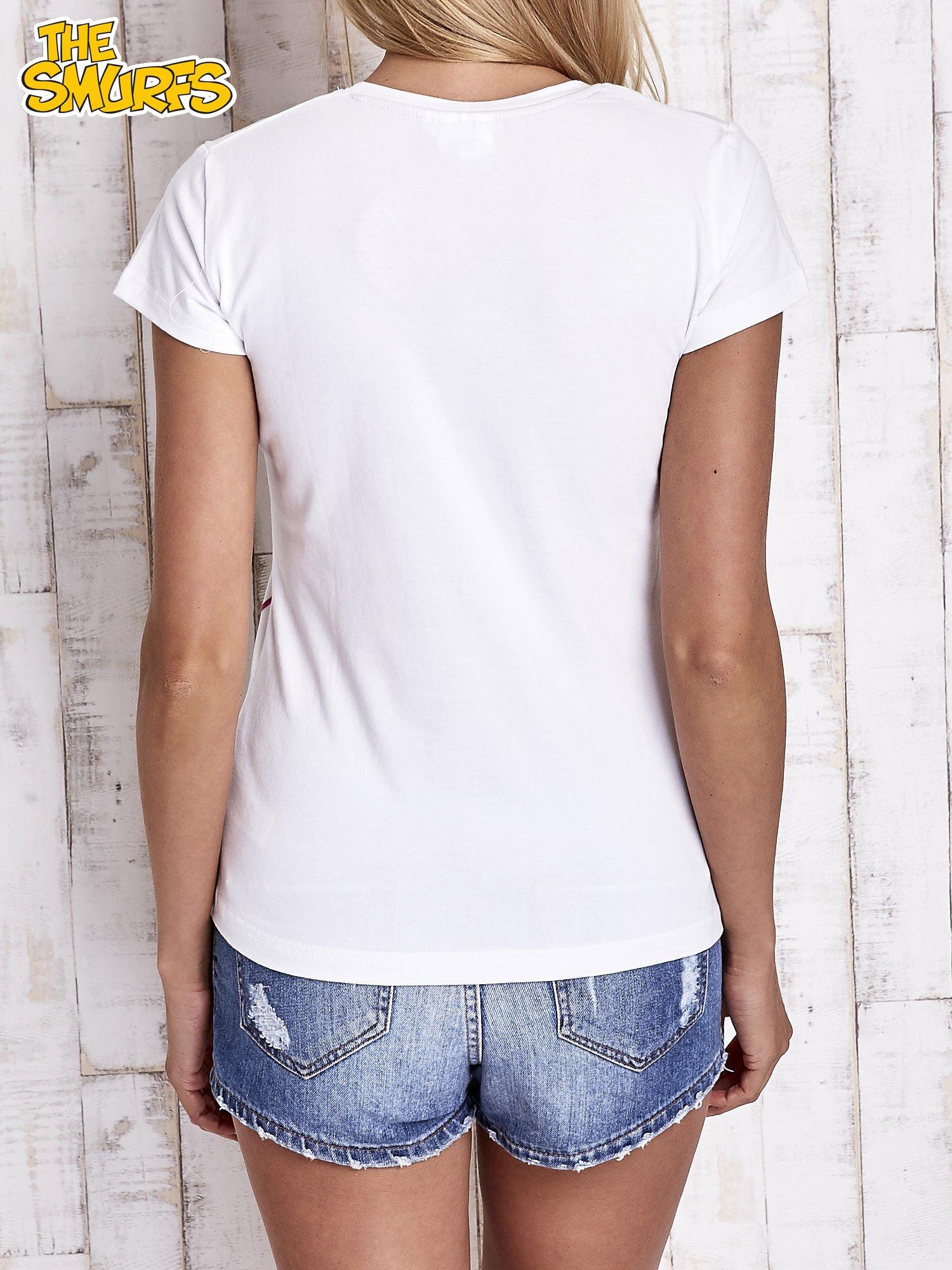 Biały t-shirt SMERFY                                  zdj.                                  5