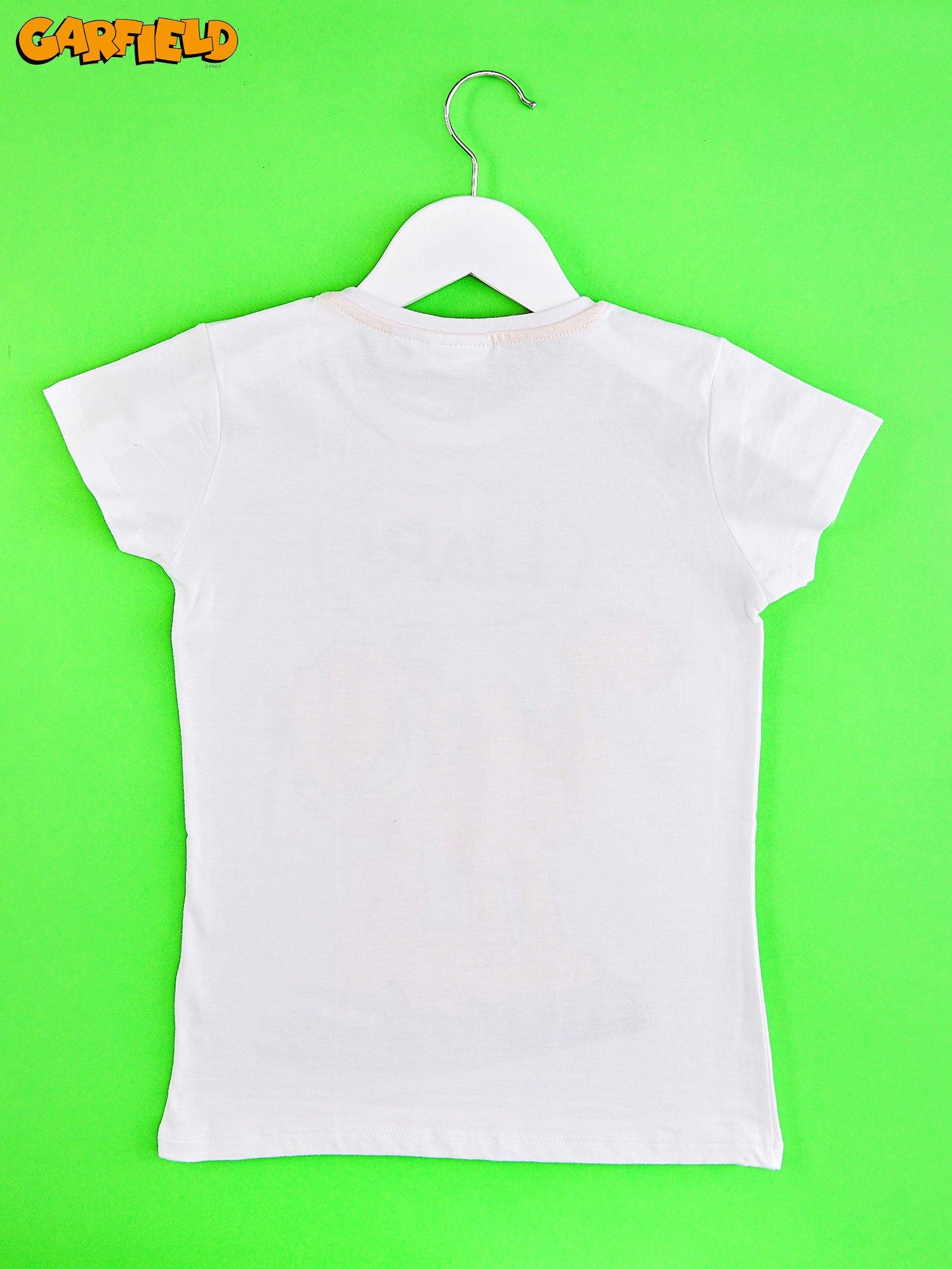 Biały t-shirt chłopięcy GARFIELD                                  zdj.                                  2