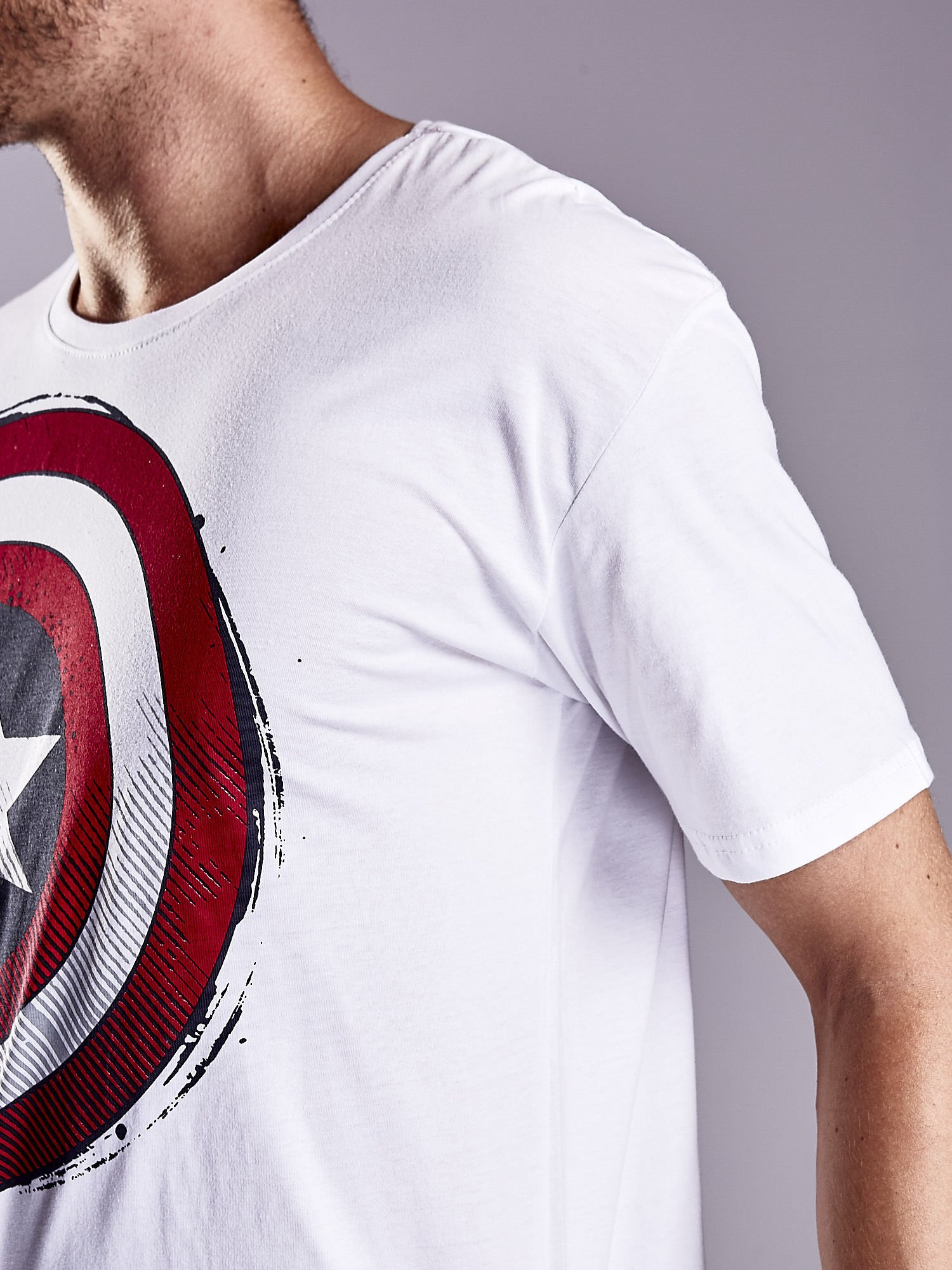 Biały t-shirt męski AVENGERS                                  zdj.                                  7