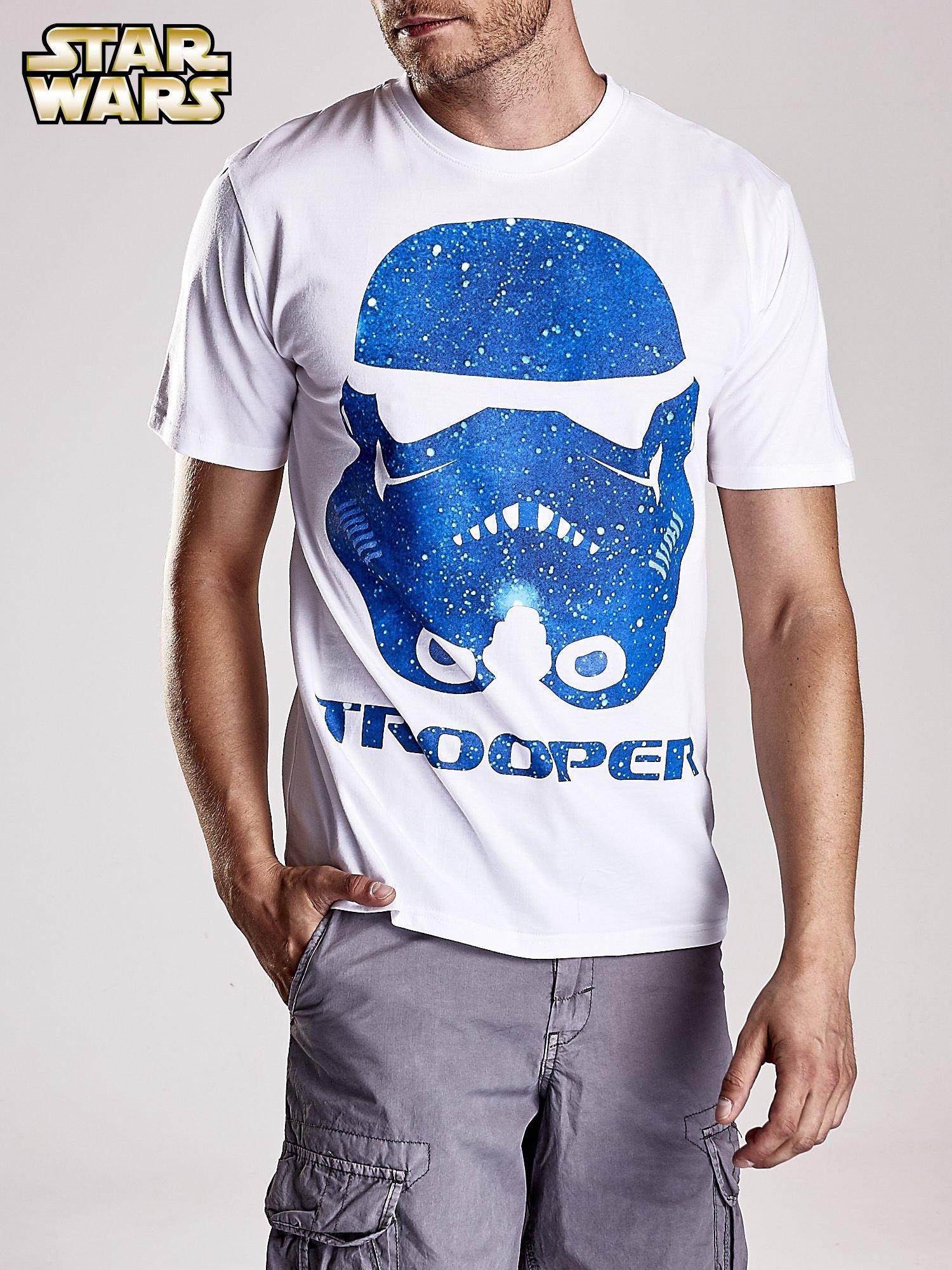 Biały t-shirt męski STAR WARS                                  zdj.                                  5