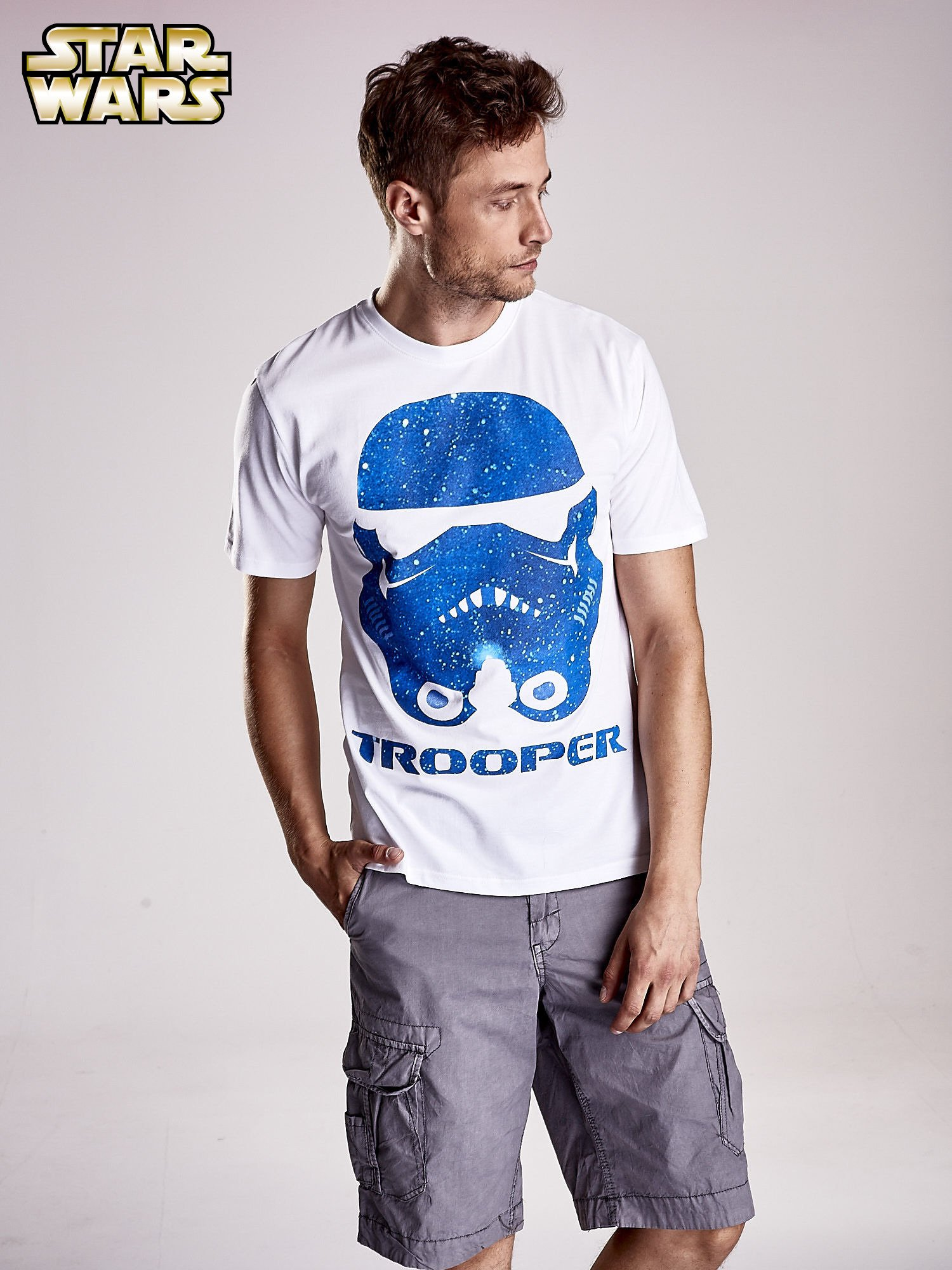 Biały t-shirt męski STAR WARS                                  zdj.                                  1
