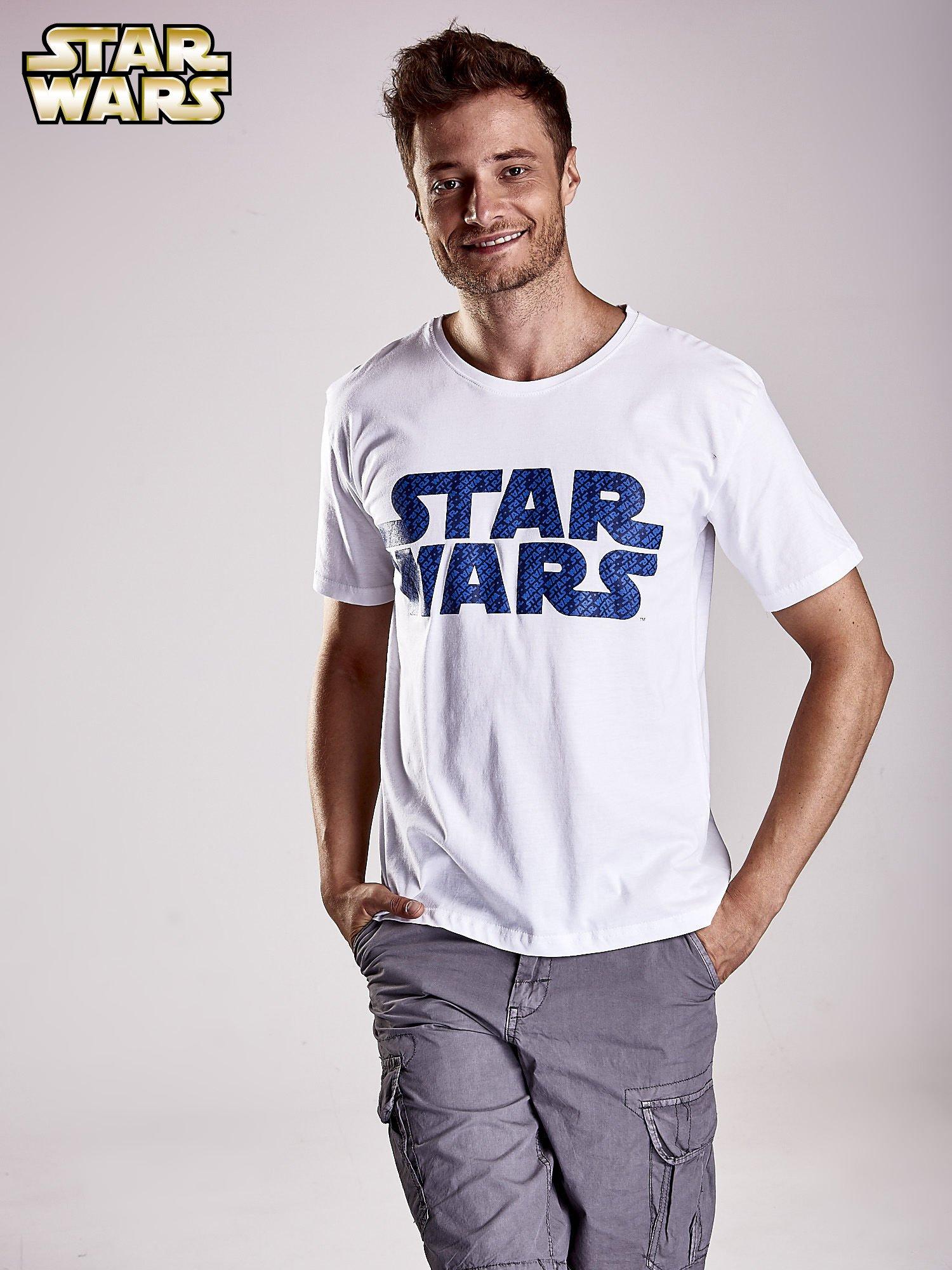 Biały t-shirt męski z nadrukiem STAR WARS                                  zdj.                                  1