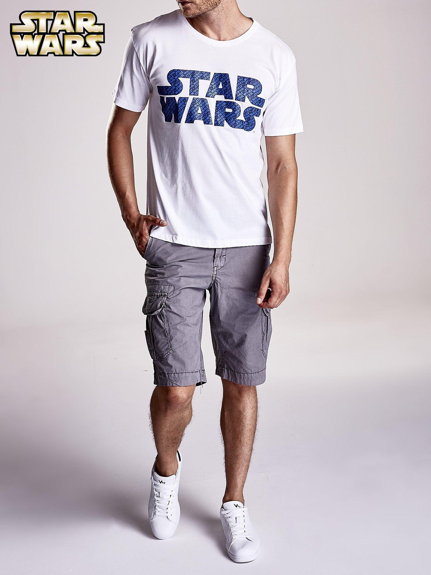 Biały t-shirt męski z nadrukiem STAR WARS                                  zdj.                                  8