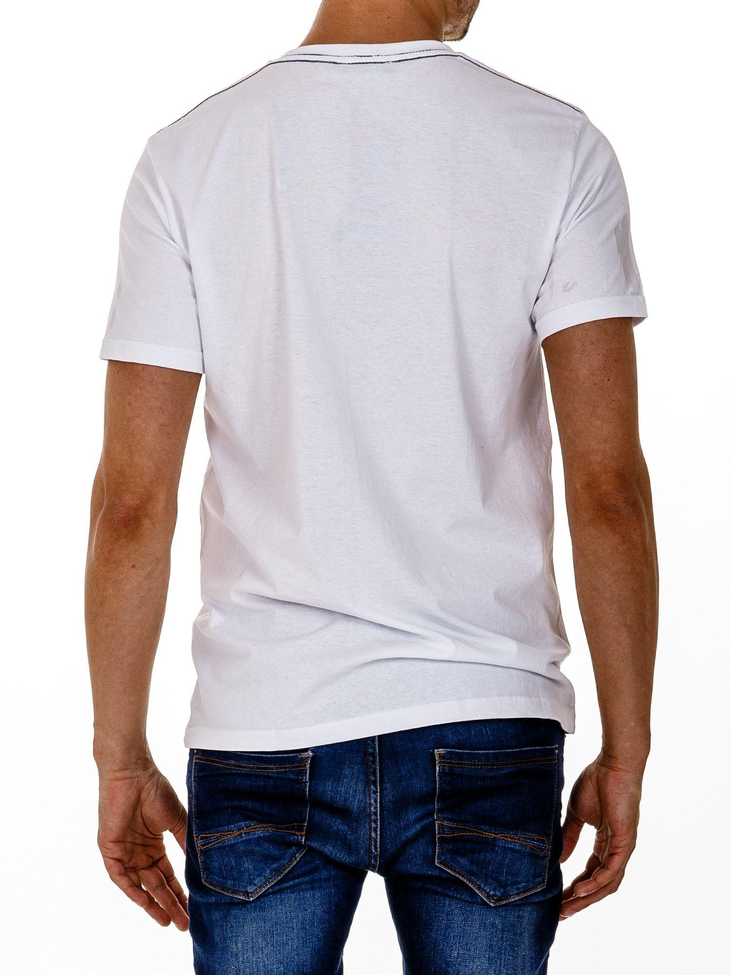 Biały t-shirt męski z napisami BROOKLYN NEW YORK SPIRIT 86                                  zdj.                                  5
