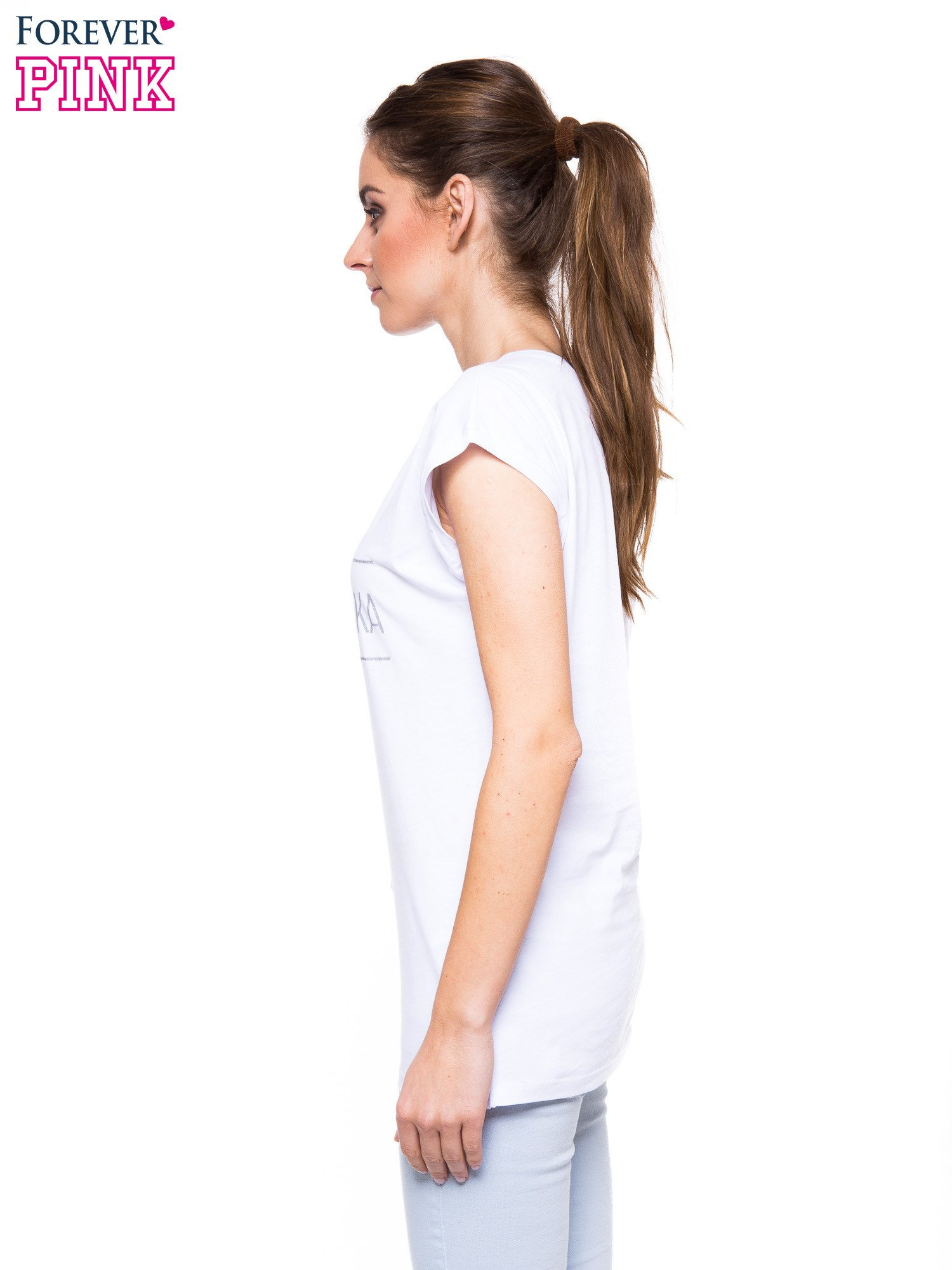 68f7f6583 Biały t-shirt z nadrukiem PANI KIEROWNICZKA - T-shirt z nadrukiem ...