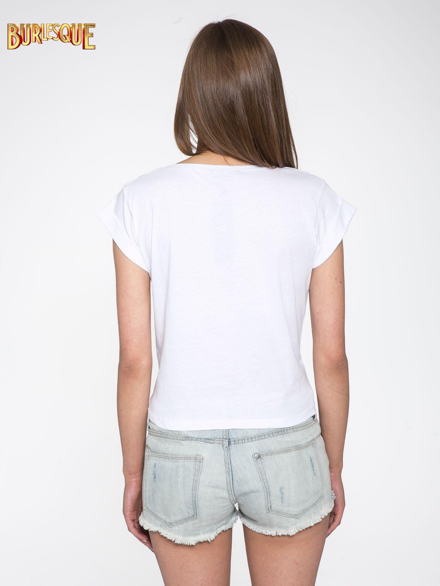 Biały t-shirt z nadrukiem Stich                                  zdj.                                  4