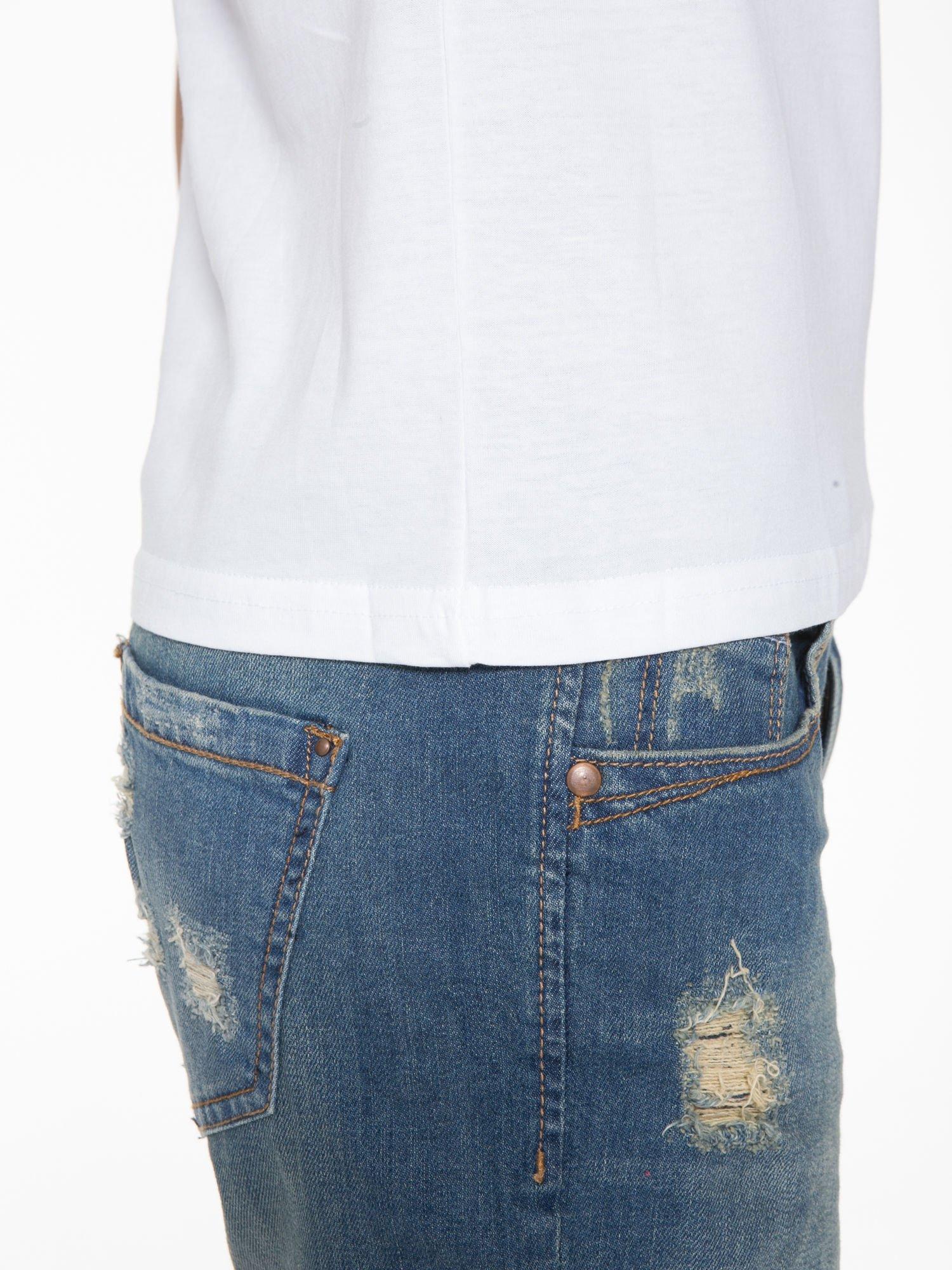 Biały t-shirt z napisem CÉLINE ME ALONE                                  zdj.                                  8