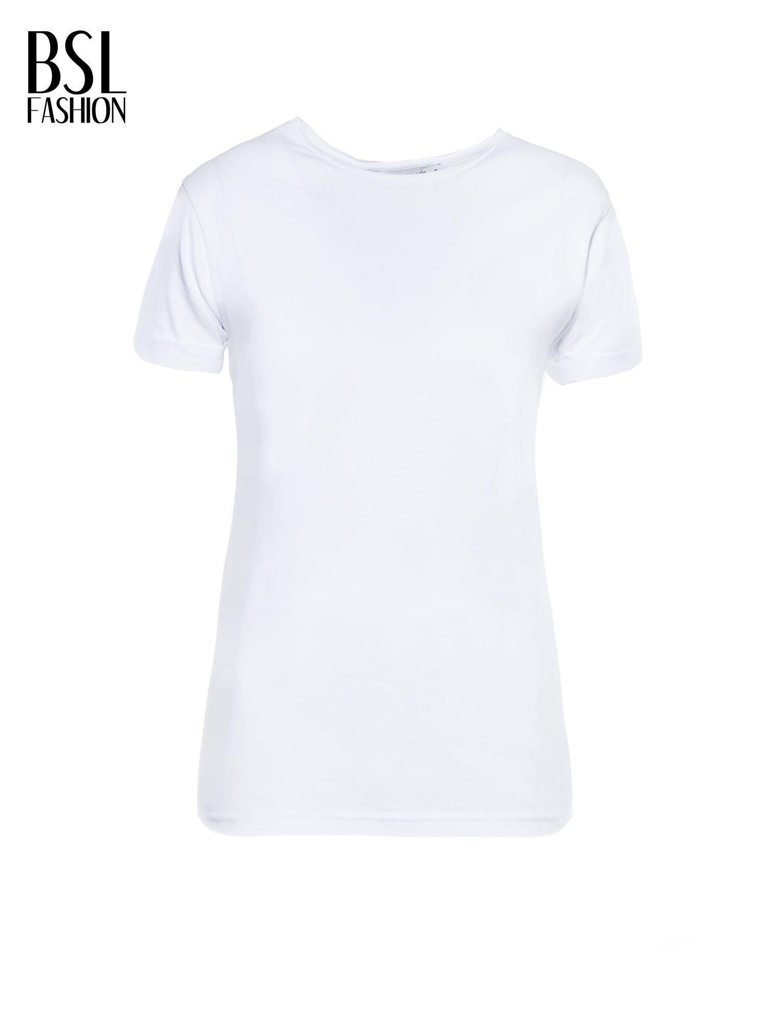 Biały t-shirt z napisem MARGIELA 47 na plecach                                  zdj.                                  2