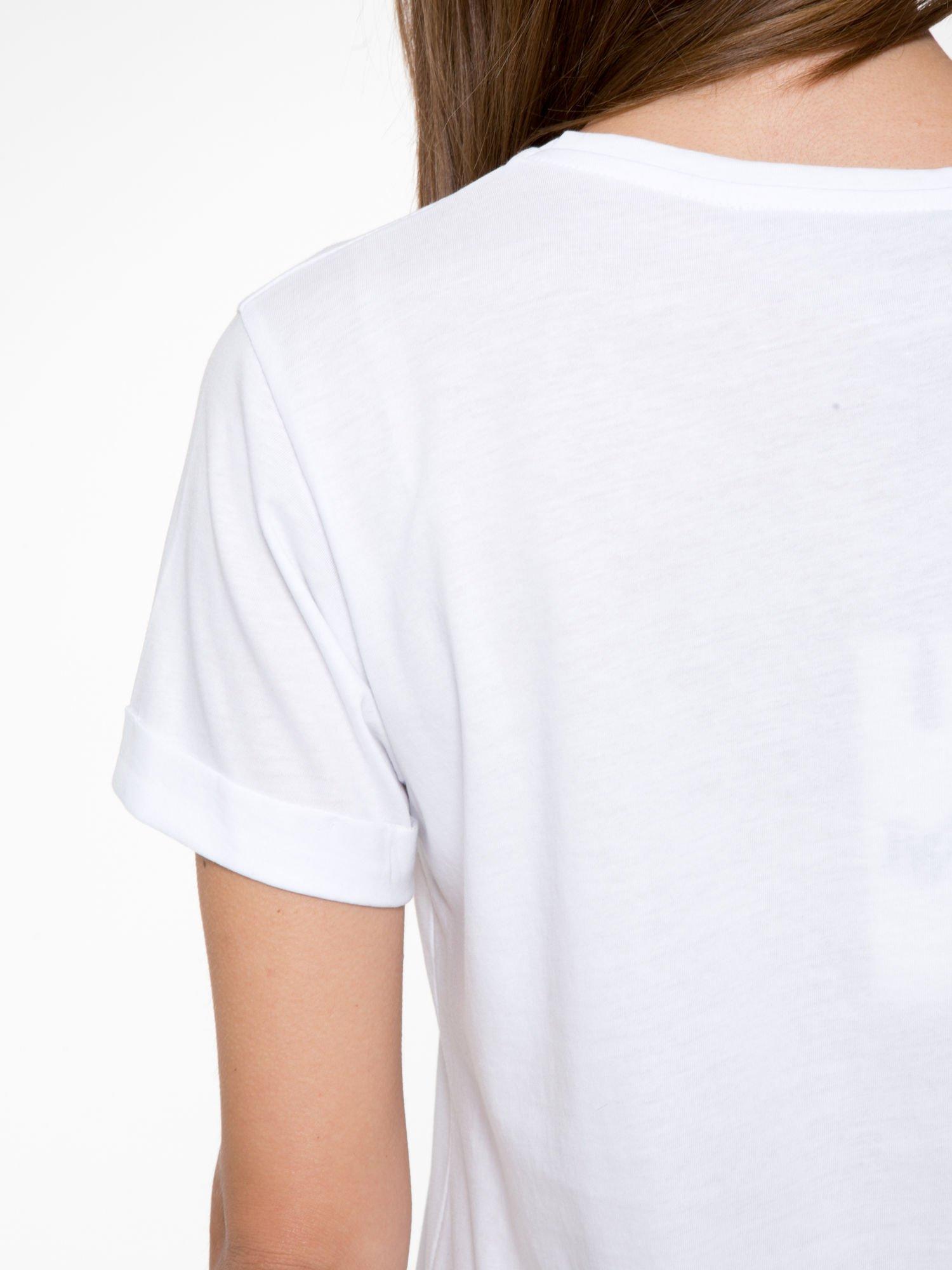 Biały t-shirt ze złotym napisem HOMIES SOUTH CENTRAL                                  zdj.                                  9