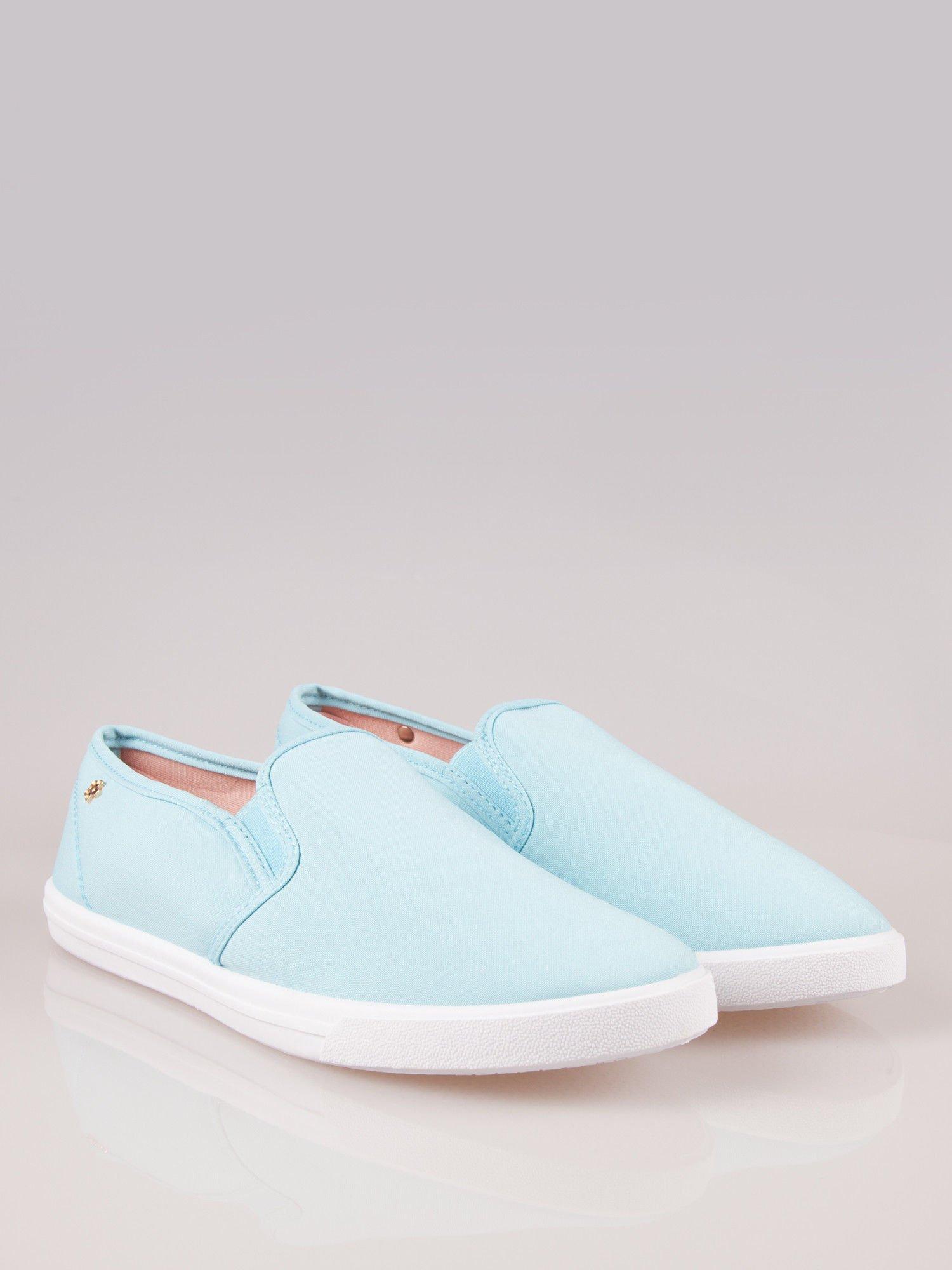 Błękitne buty slip-on                                  zdj.                                  1