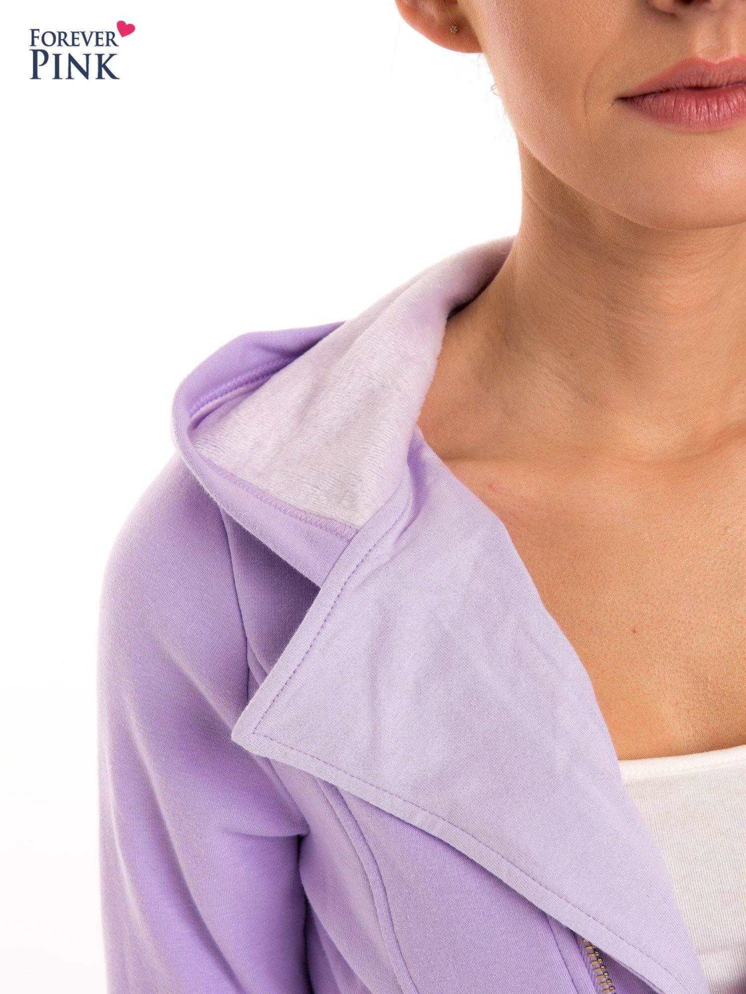 Bluza typu ramoneska w kolorze lila                                  zdj.                                  7
