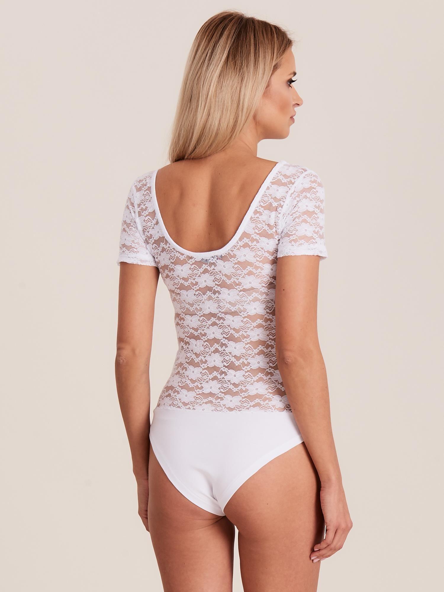 dc994b9ea9ea99 Body koronkowe białe - Bluzka body - sklep eButik.pl