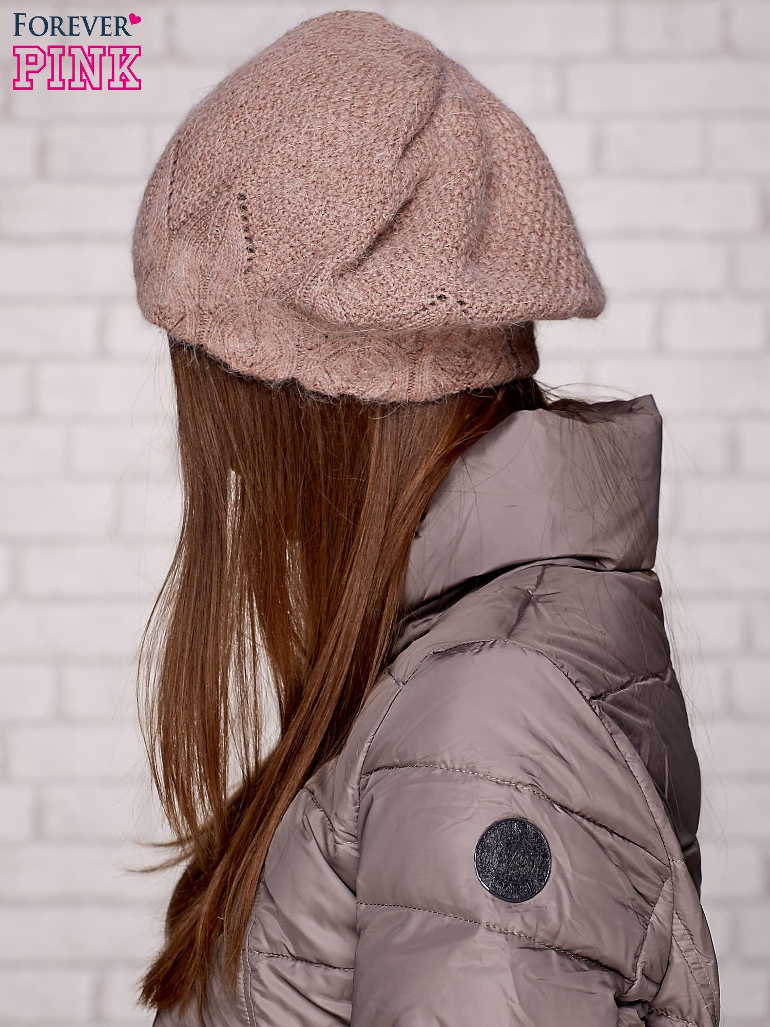 Brązowa dzianinowa czapka                                  zdj.                                  2