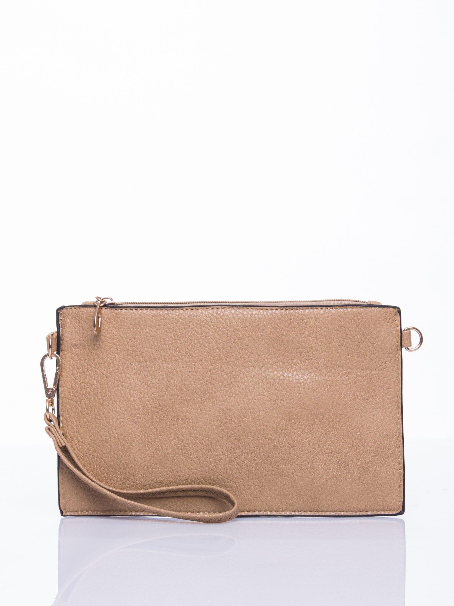 Brązowa prosta przewieszana torebka z uchwytem                                  zdj.                                  1