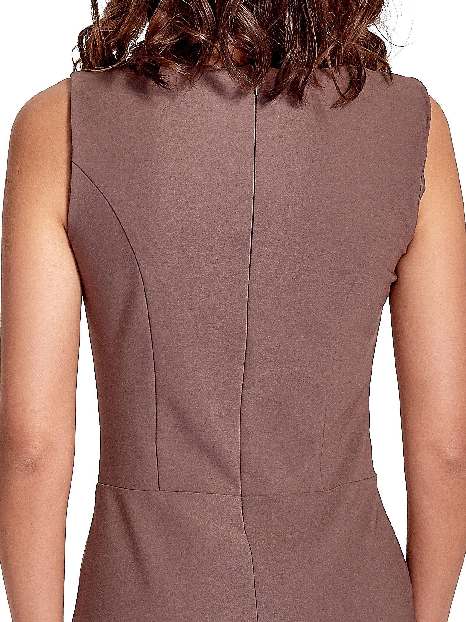 Brązowa sukienka ze sznurowaniem                                  zdj.                                  5