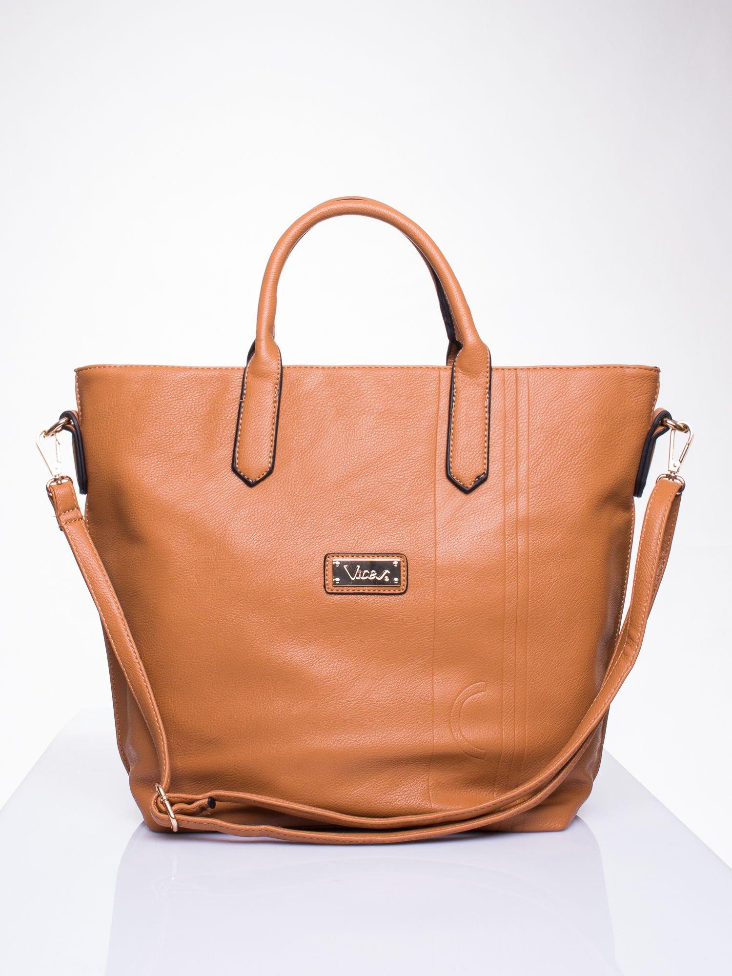 Brązowa torba damska do ręki                                  zdj.                                  1
