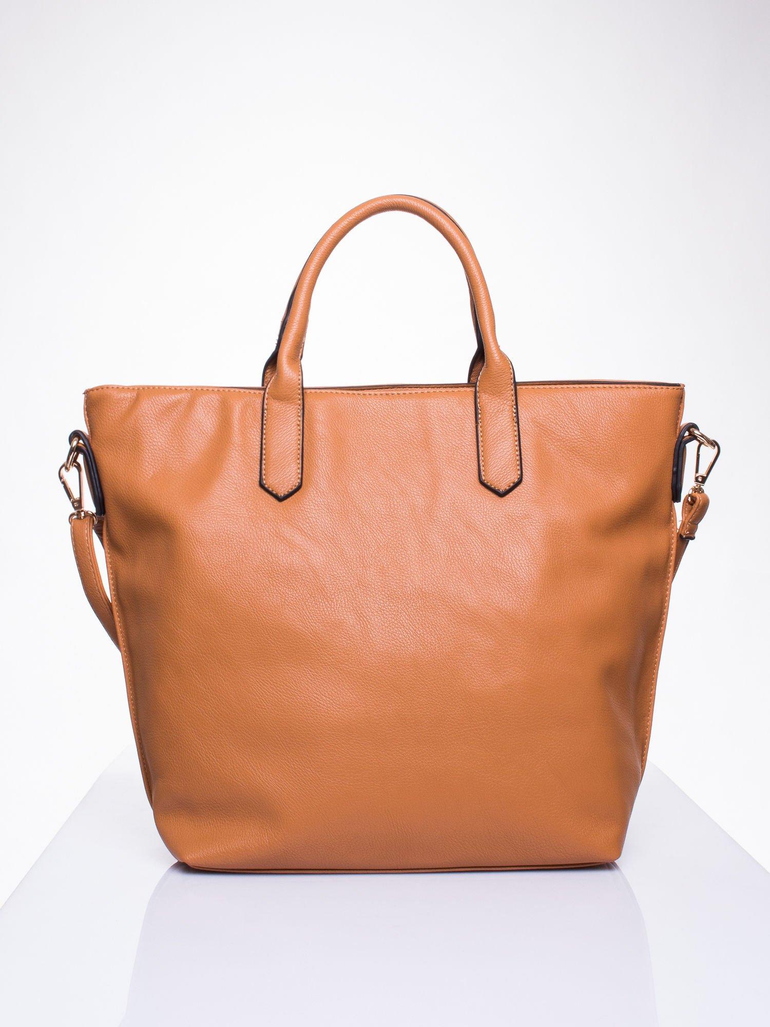 Brązowa torba damska do ręki                                  zdj.                                  2