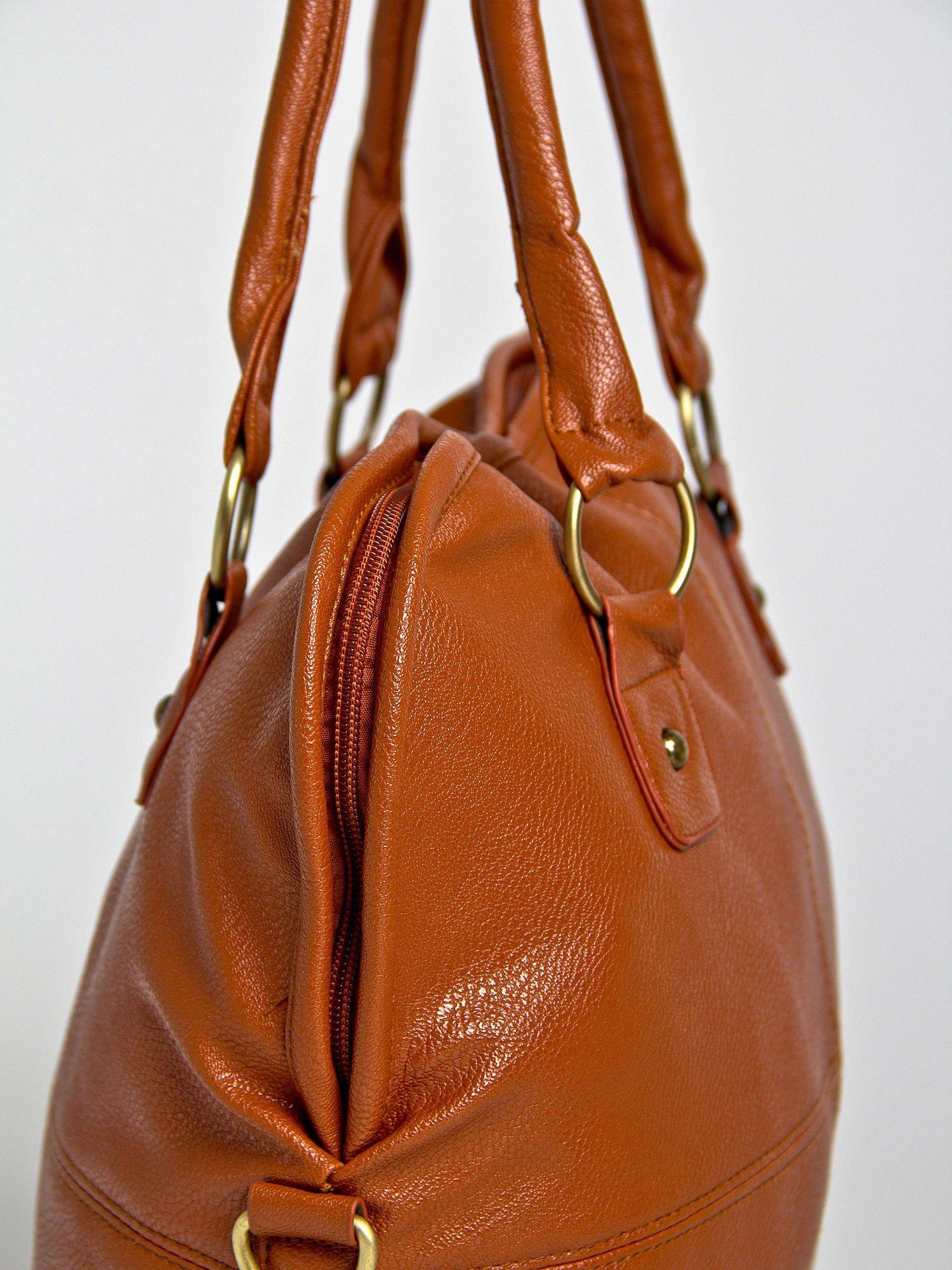 Brązowa torba miejska na ramię                                  zdj.                                  3