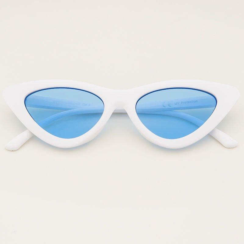 62a74e025867f8 CAT EYE Białe damskie okulary przeciwsłoneczne KOCIE OCZY ...