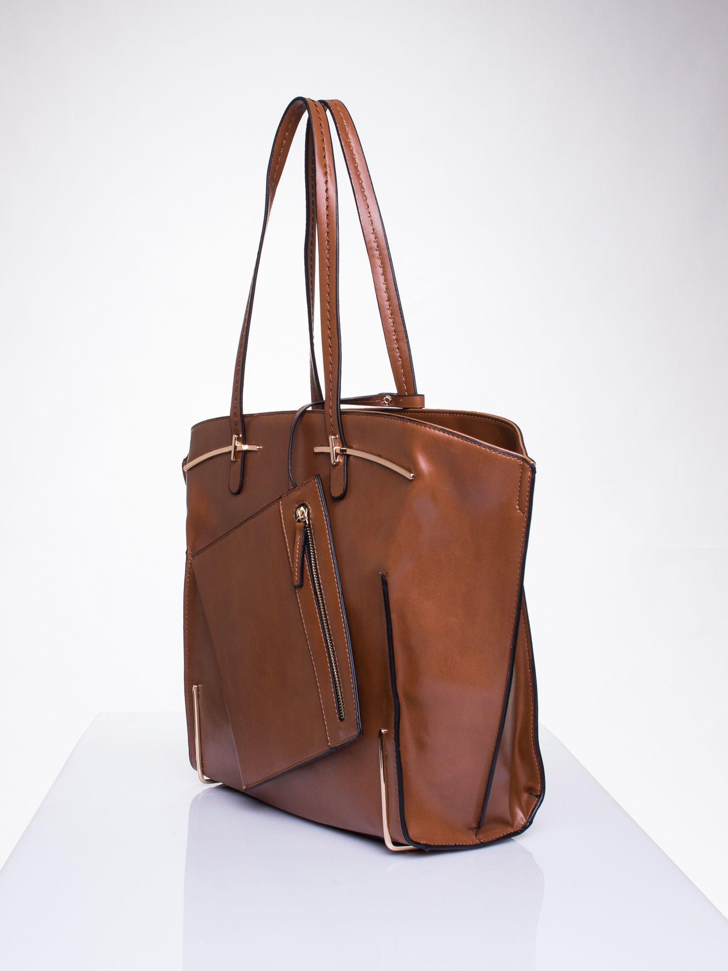 Camelowa torba z doczepianą saszetką                                  zdj.                                  3