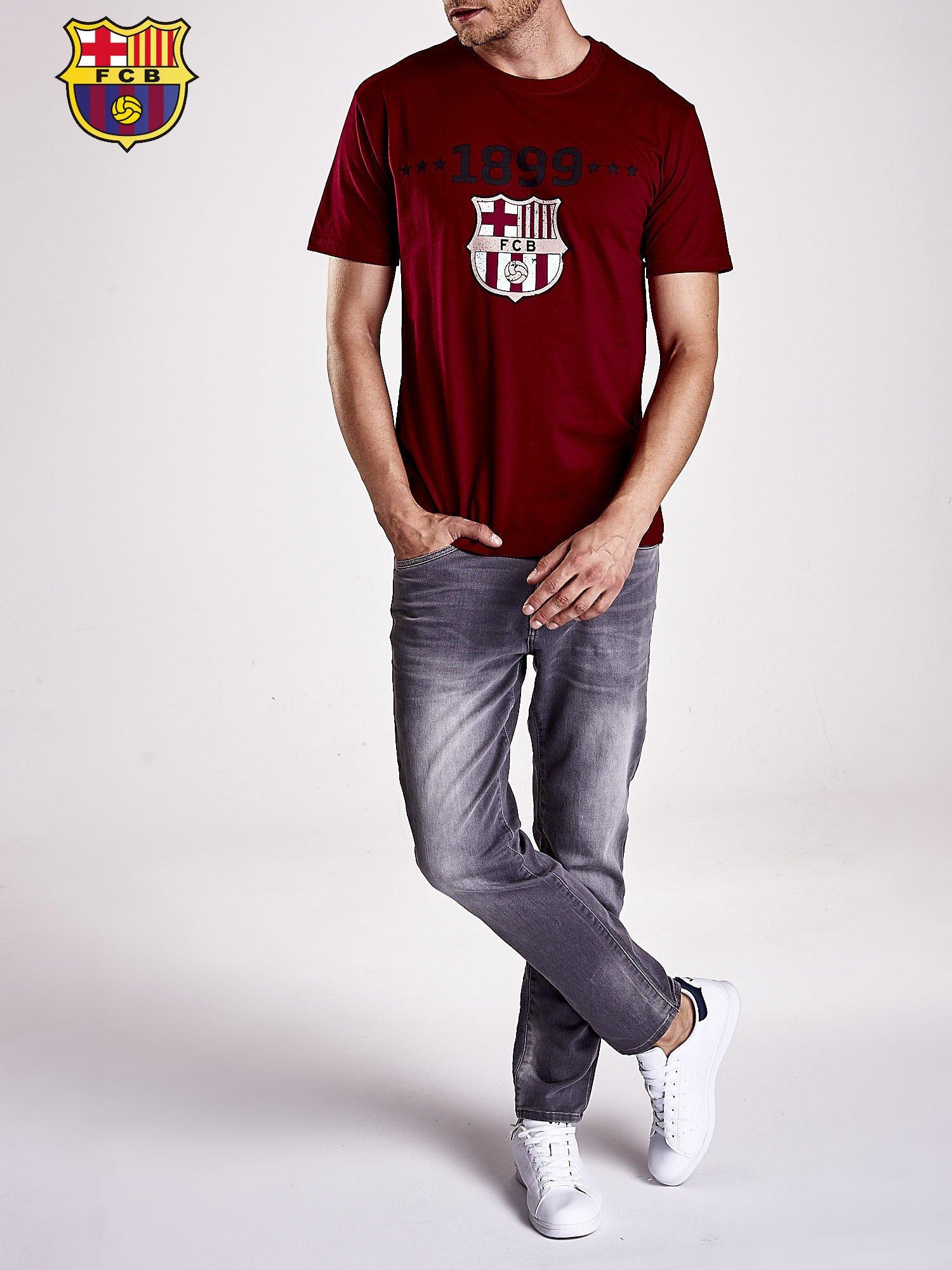 Ciemnoczerwony t-shirt męski FC BARCELONA                                   zdj.                                  9