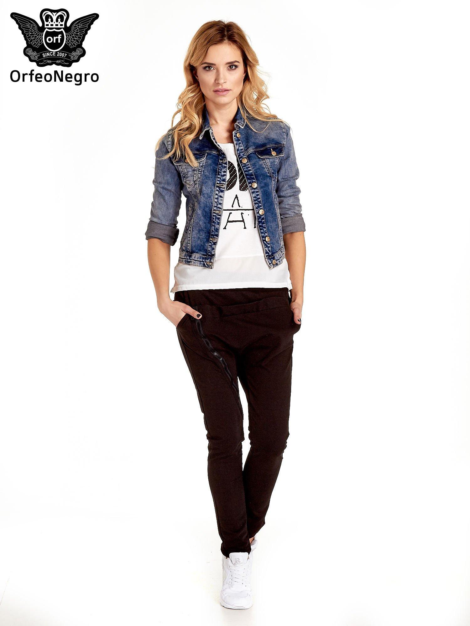 Ciemnoniebieska klasyczna kurtka jeansowa damska                                  zdj.                                  6