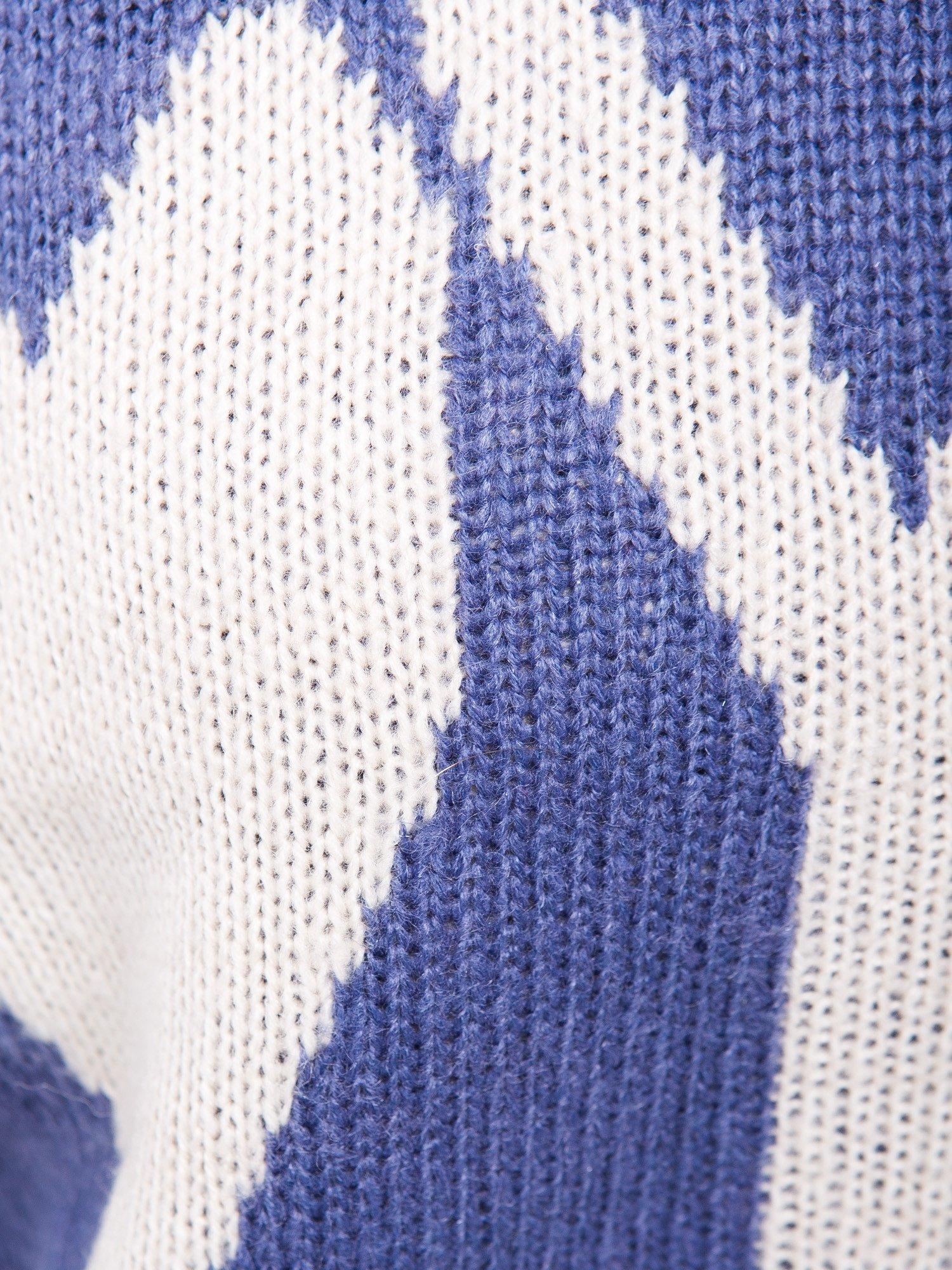 Ciemnoniebieski sweter z sercem i napisem YOU                                  zdj.                                  6