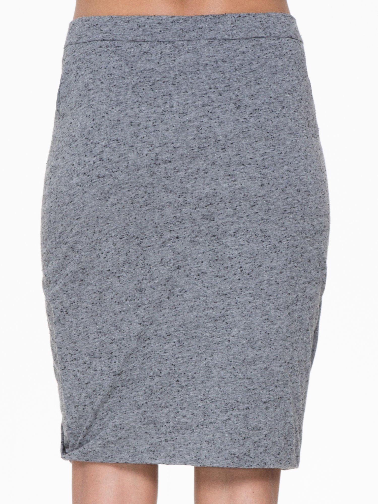 Ciemnoszara melanżowa spódnica z drapowaniem                                  zdj.                                  6