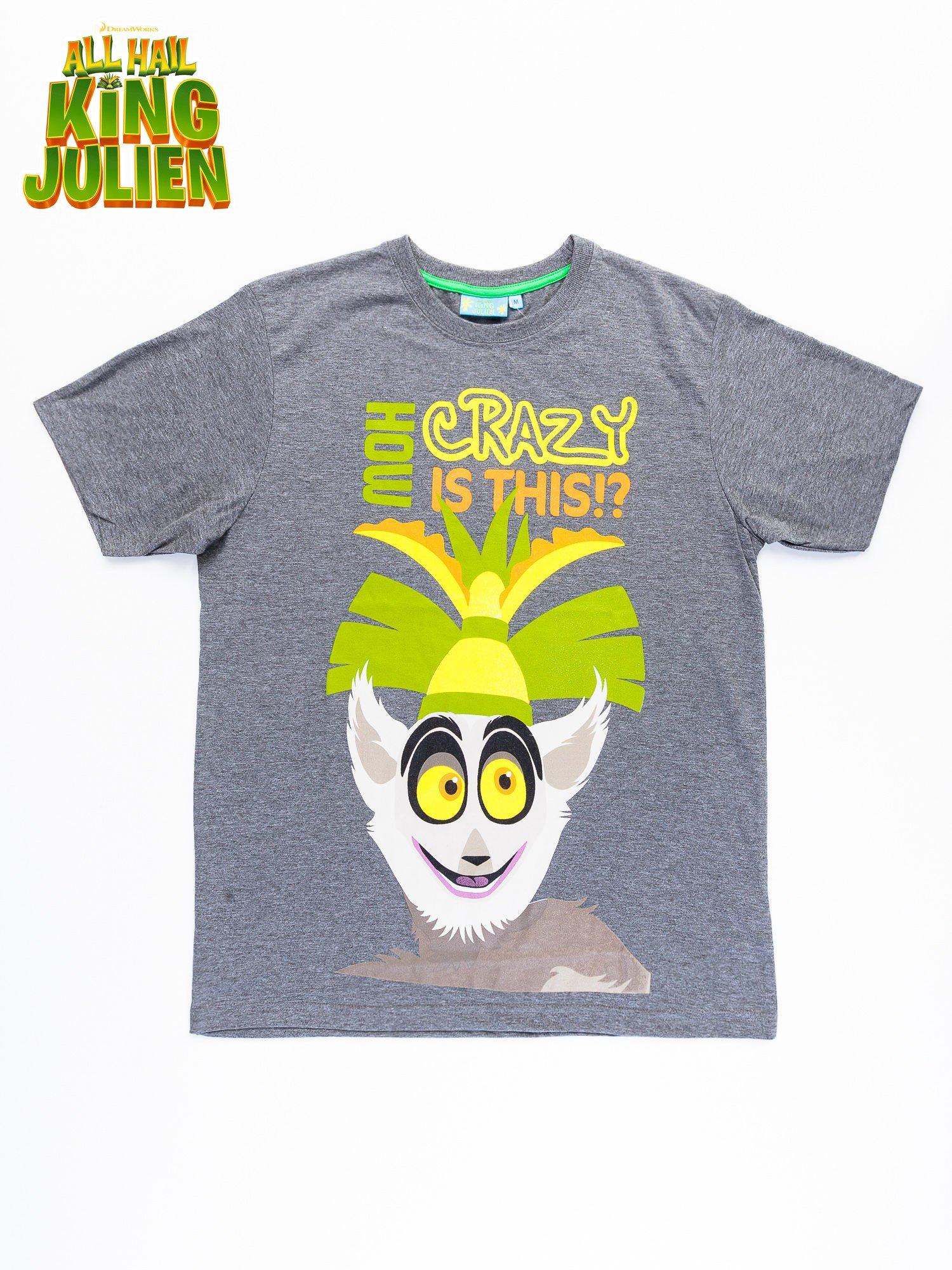 Ciemnoszary t-shirt męski KRÓL JULIAN                                  zdj.                                  9