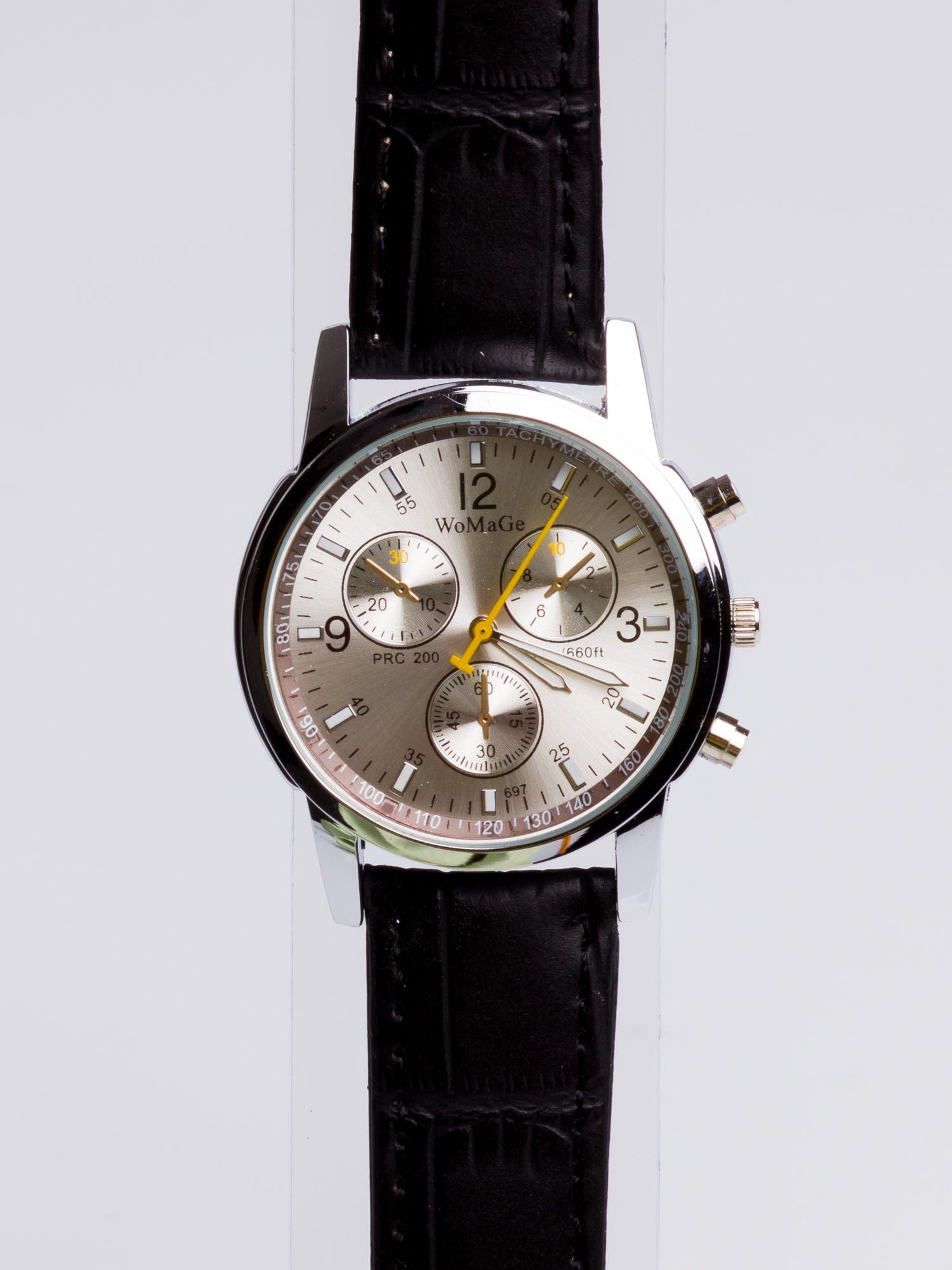 155f2737c4e3 Cudny srebrny zegarek damski z ozdobnym tachometrem - Akcesoria ...